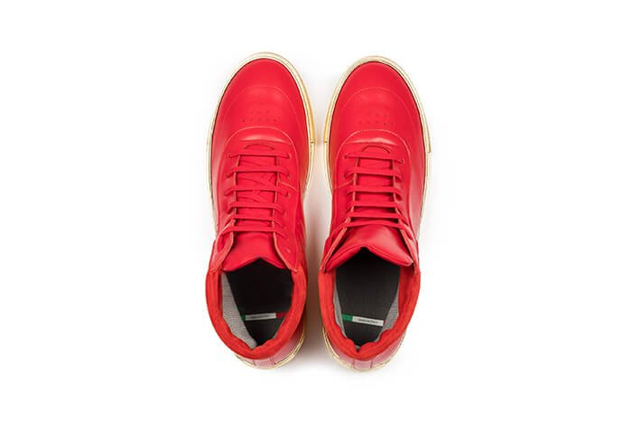 Masculine Footwear customized made in Italy sneakers by Hasan Yates