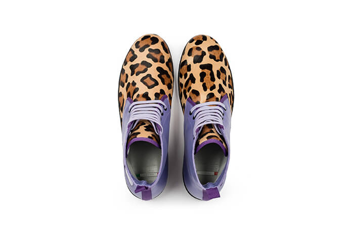 Purple Majesty customized made in Italy sneakers by Count