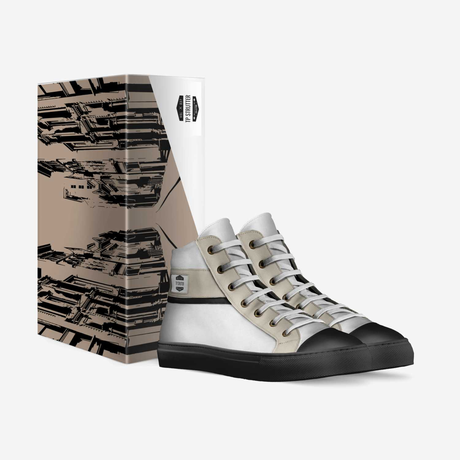 Strutter Max 1 custom made in Italy shoes by Tierre Partee | Box view