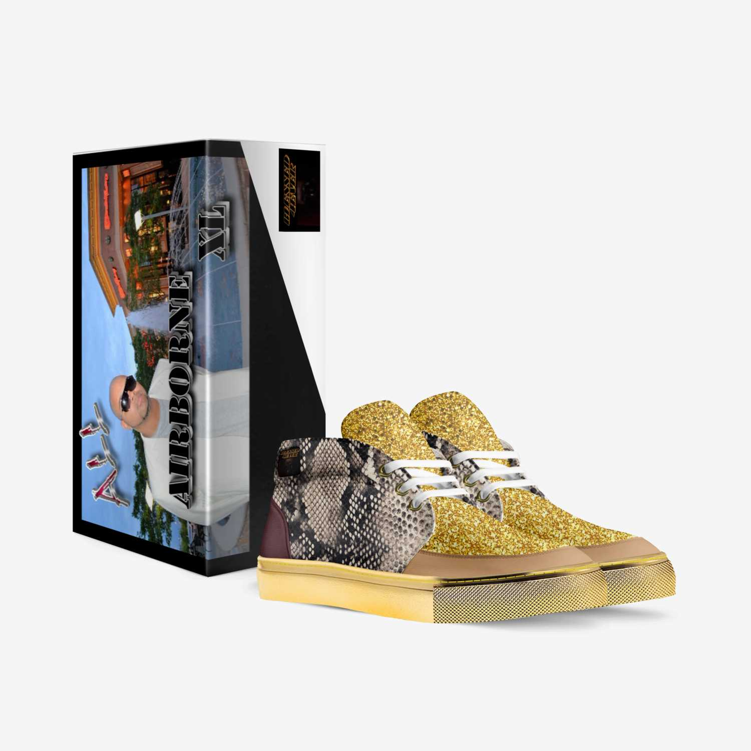 LION ICE custom made in Italy shoes by Germaine Fisher | Box view