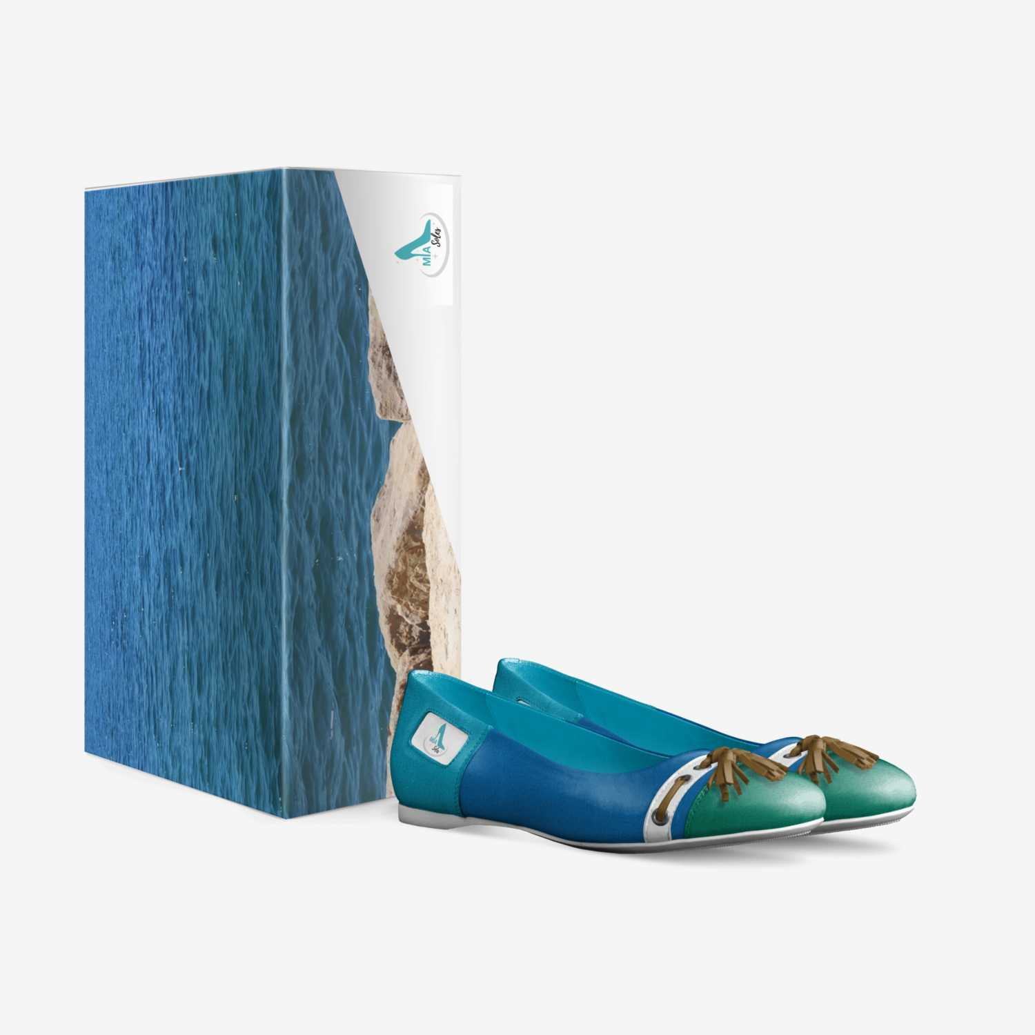 Aqualline custom made in Italy shoes by Aminah Khan | Box view