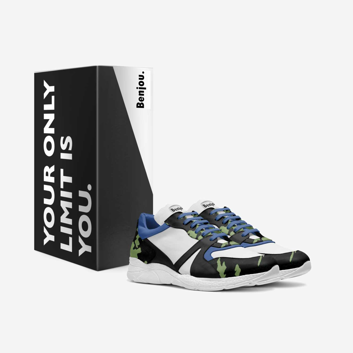 X Force camo custom made in Italy shoes by Benjamin Gantois | Box view