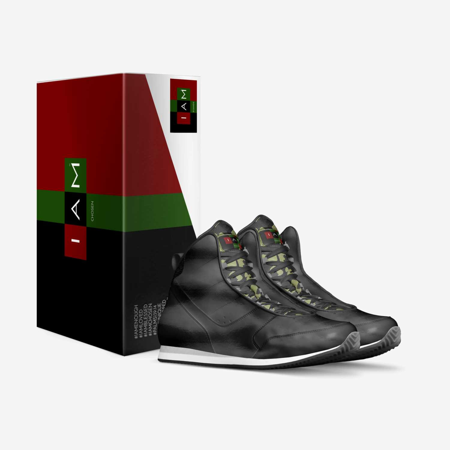 #IAMCHOSEN custom made in Italy shoes by Shanene   Box view