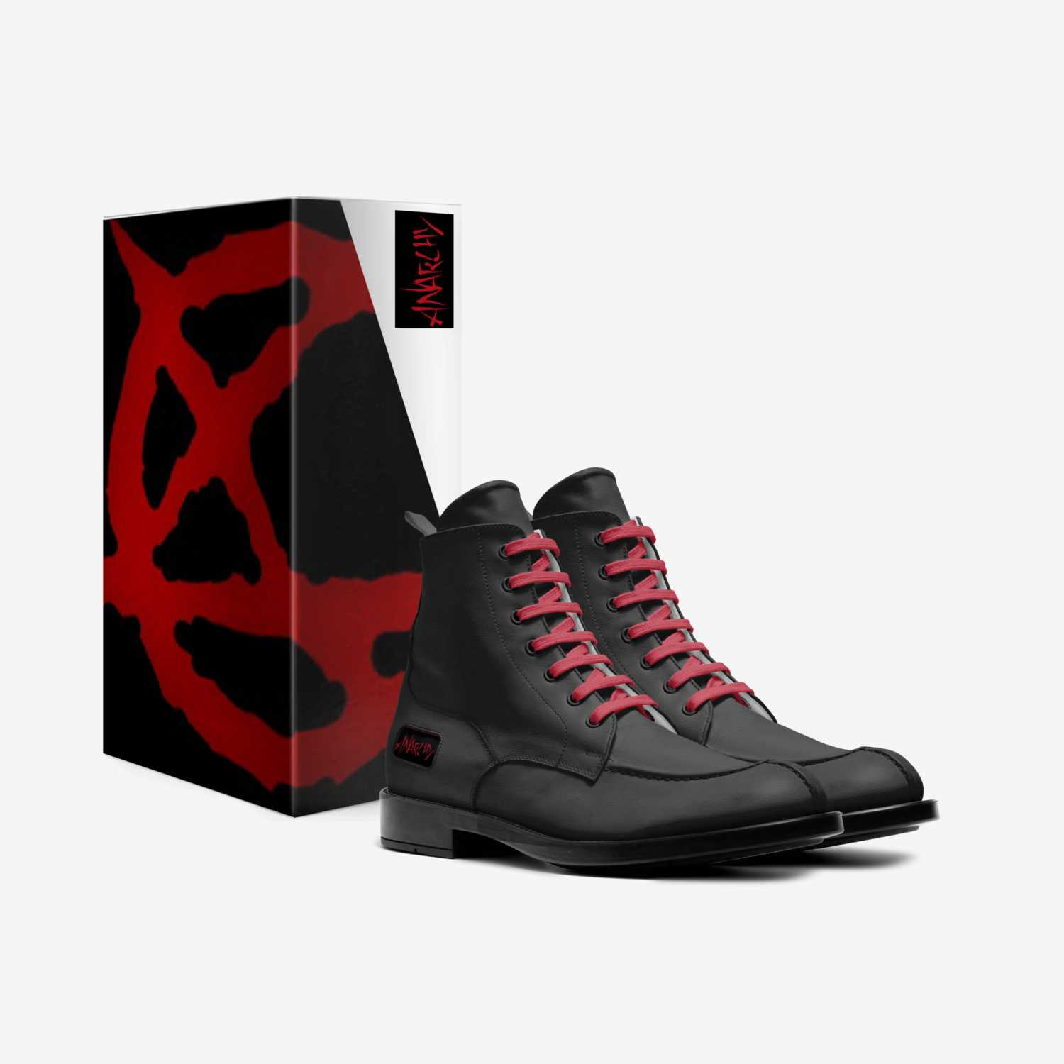 Anarchy custom made in Italy shoes by Aaron Turner   Box view