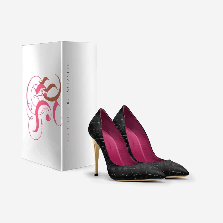 Rock Blac Cr@cs custom made in Italy shoes by Tiffany Lake   Box view