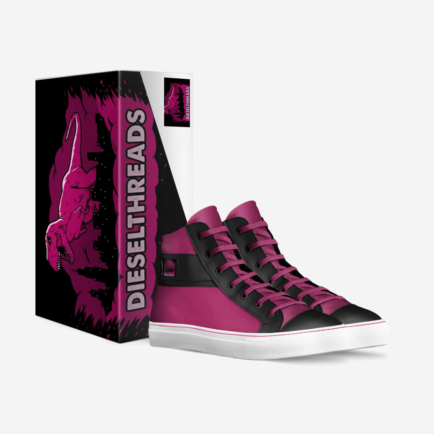 Magenta Highs custom made in Italy shoes by Michael Wesley   Box view