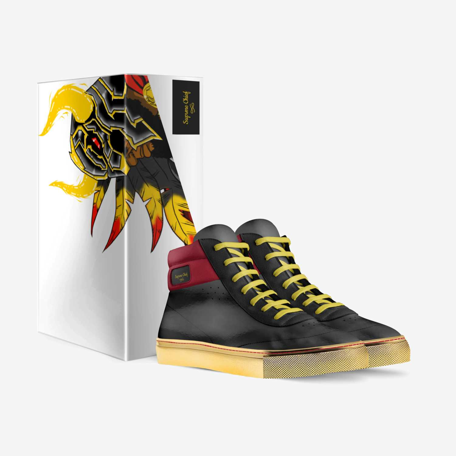 Suprme Chief custom made in Italy shoes by Morris Scales | Box view