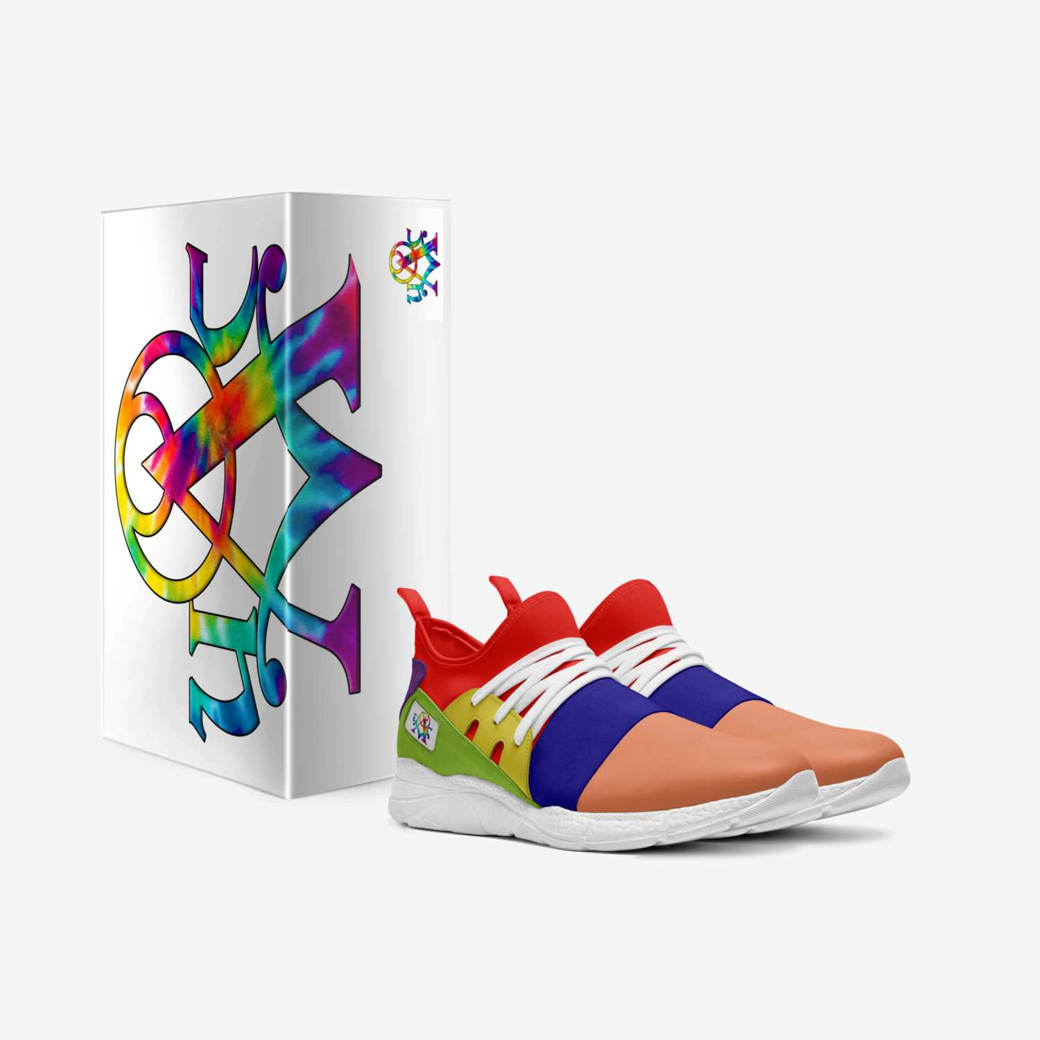 Alchemist Skittles custom made in Italy shoes by Urban Alchemist Clothing   Box view