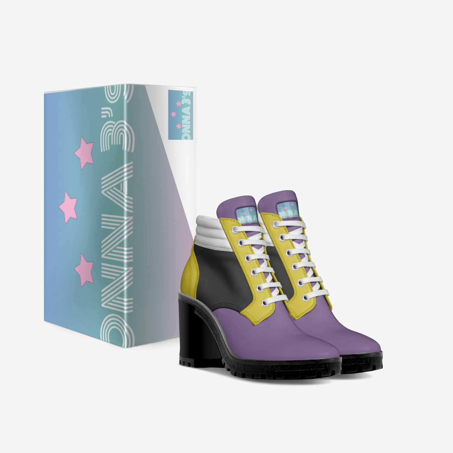 Onna3s custom made in Italy shoes by Britni Monet | Box view