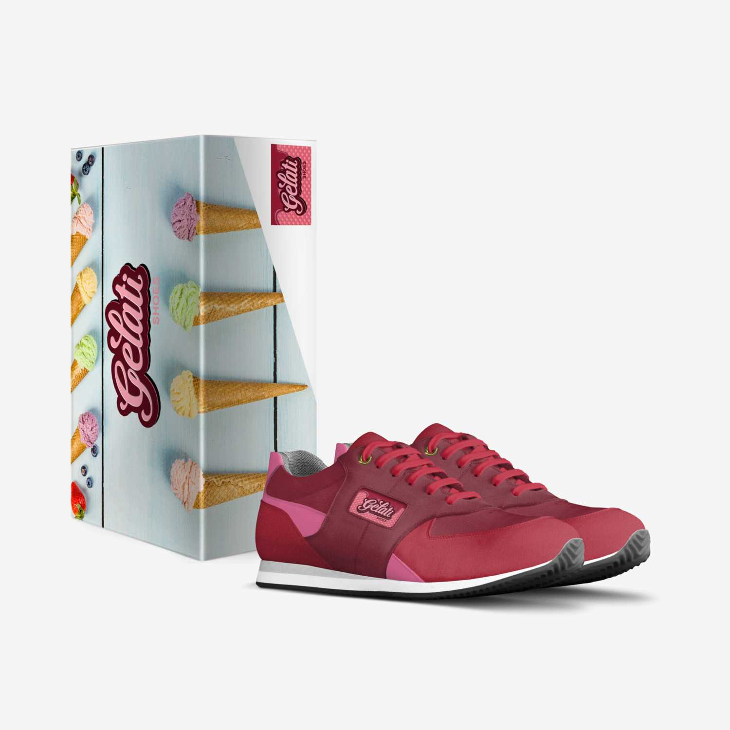Strawberry Cream custom made in Italy shoes by Craig David | Box view