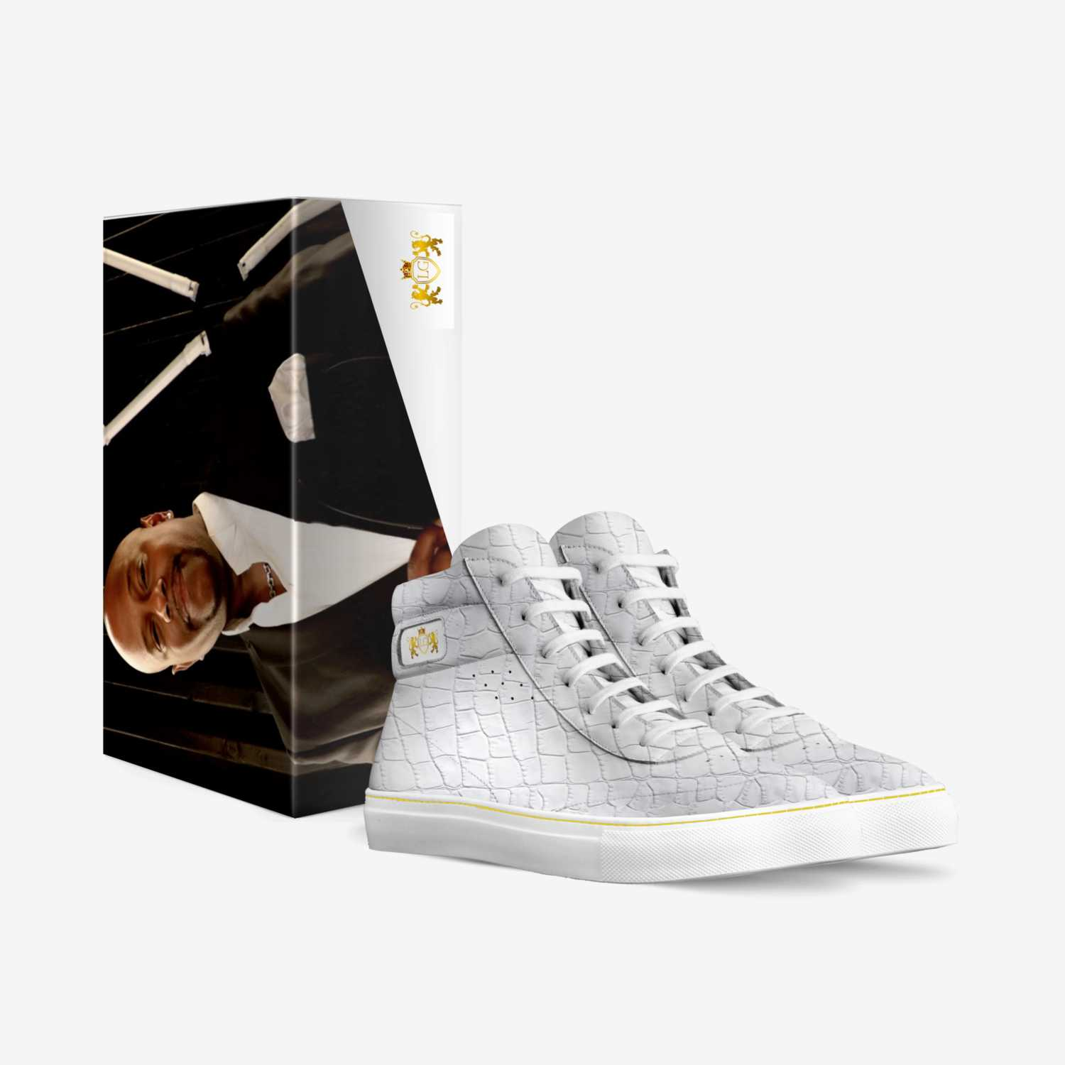 LG 2 custom made in Italy shoes by Legrand Whitt | Box view