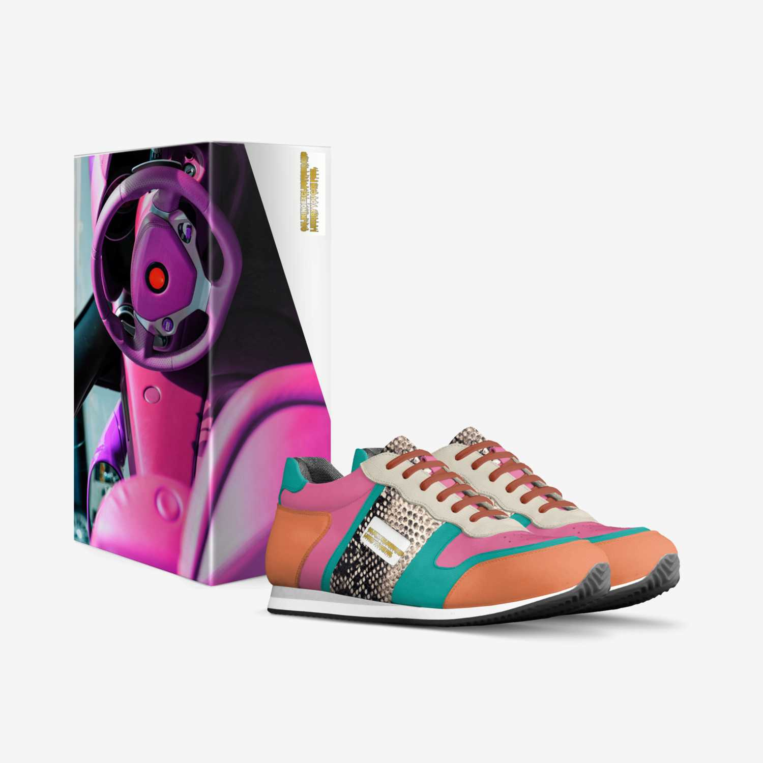 CKE COLOR WAVE M.D custom made in Italy shoes by Cameron Mabins | Box view