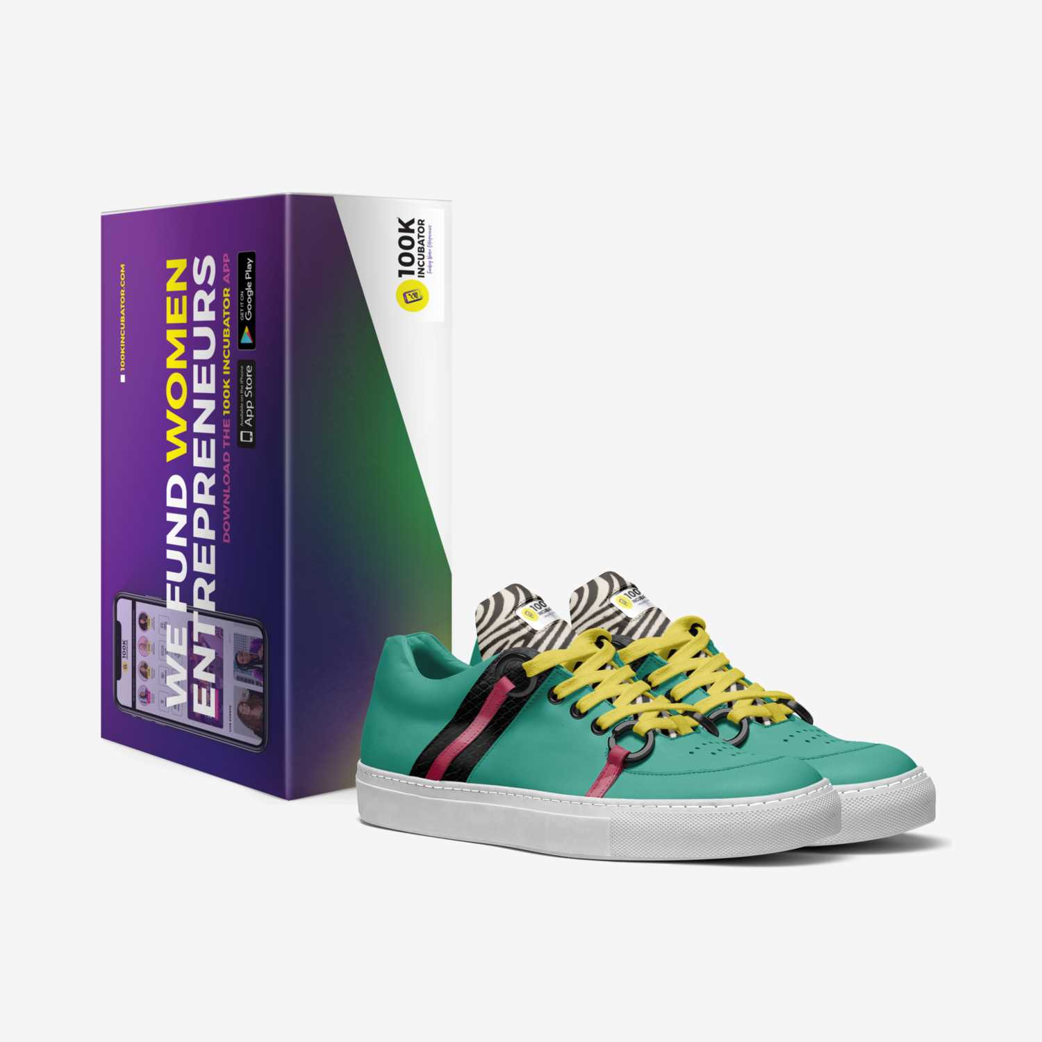 100K Woman custom made in Italy shoes by 100k Incubator | Box view