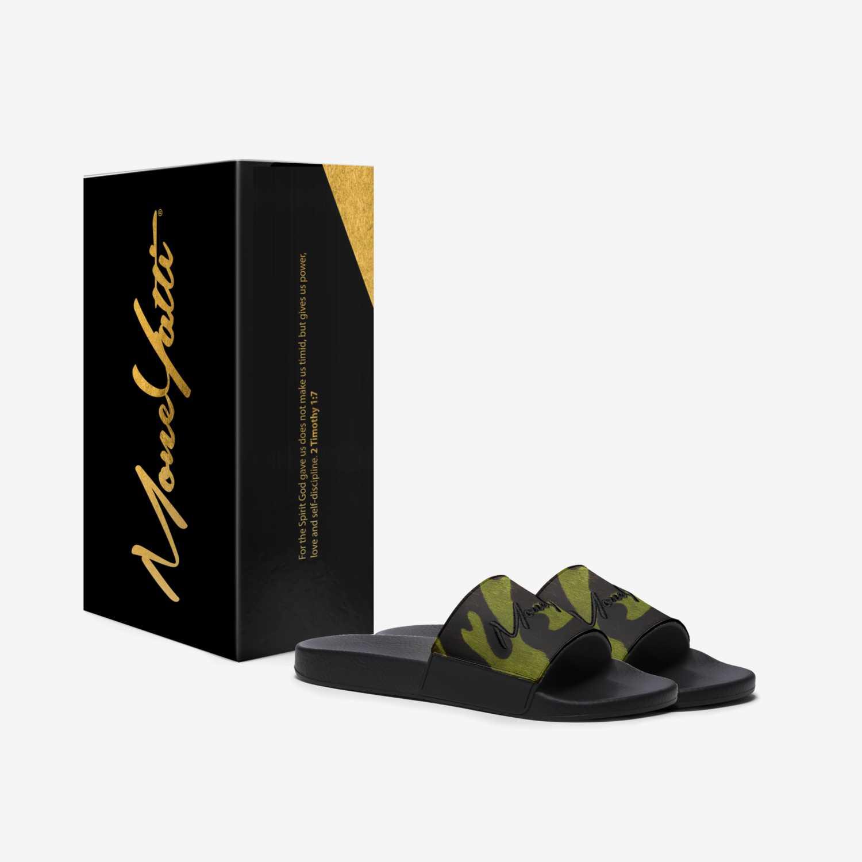 MONEYATTI SLIDES 004 custom made in Italy shoes by Moneyatti Brand | Box view