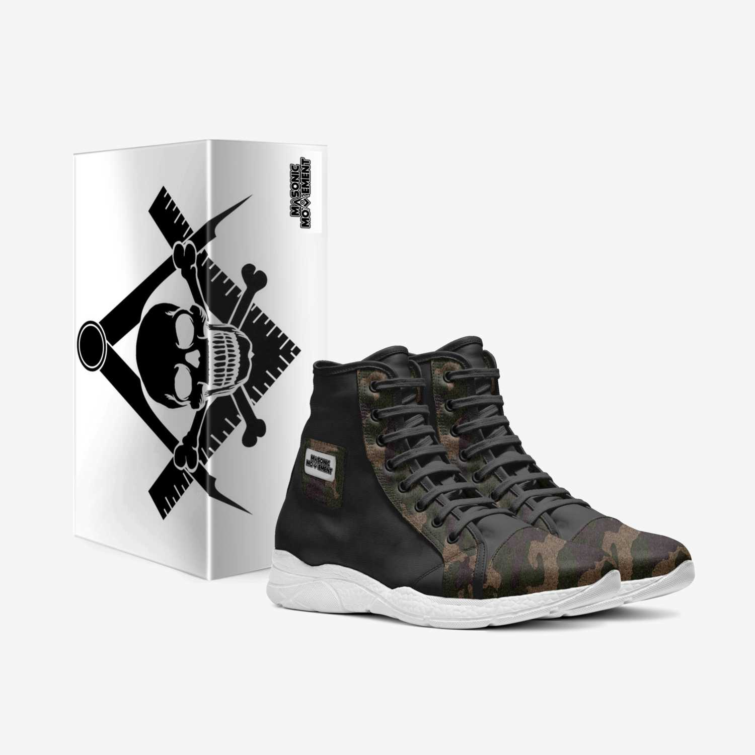 Masonic Movement custom made in Italy shoes by James Thomas | Box view