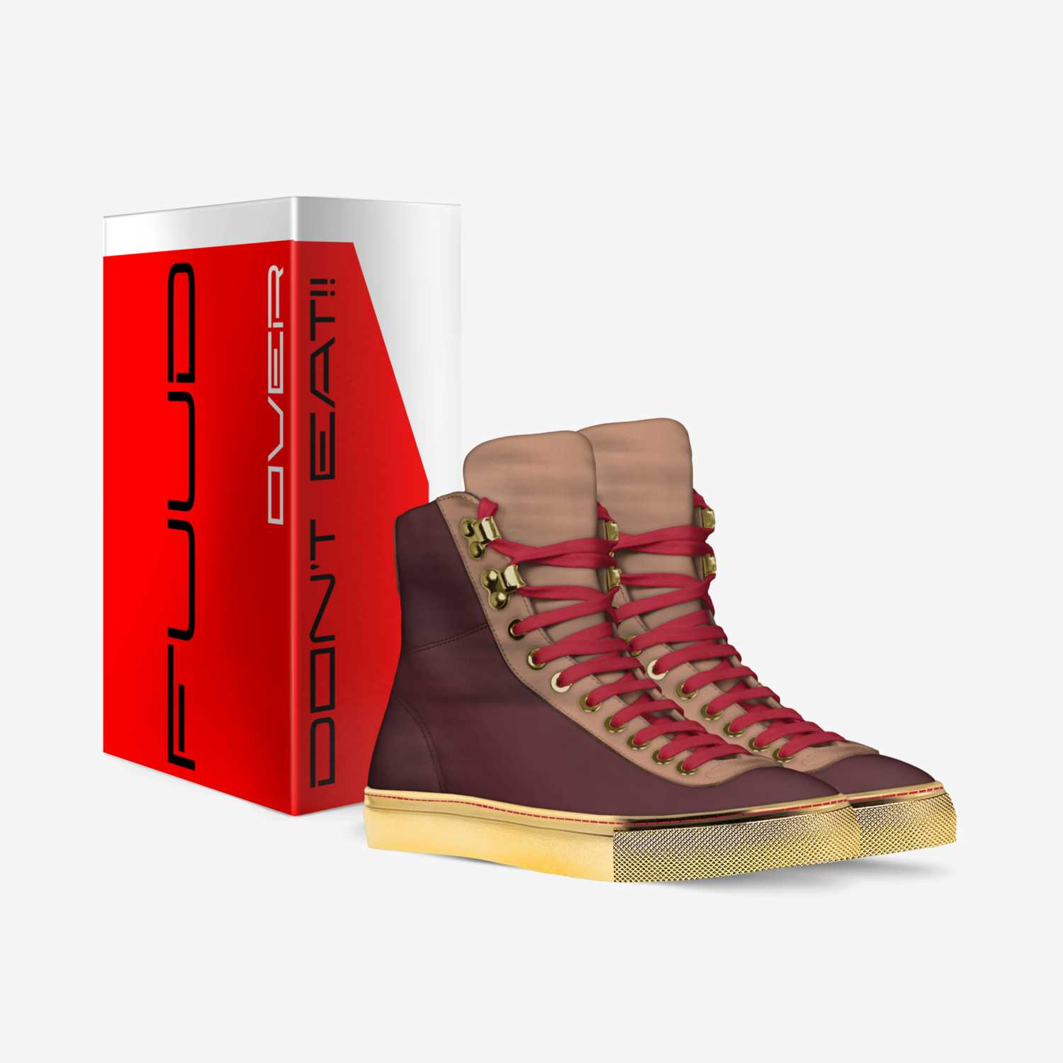 Kings- Red Velvet custom made in Italy shoes by The Fuud Shop | Box view