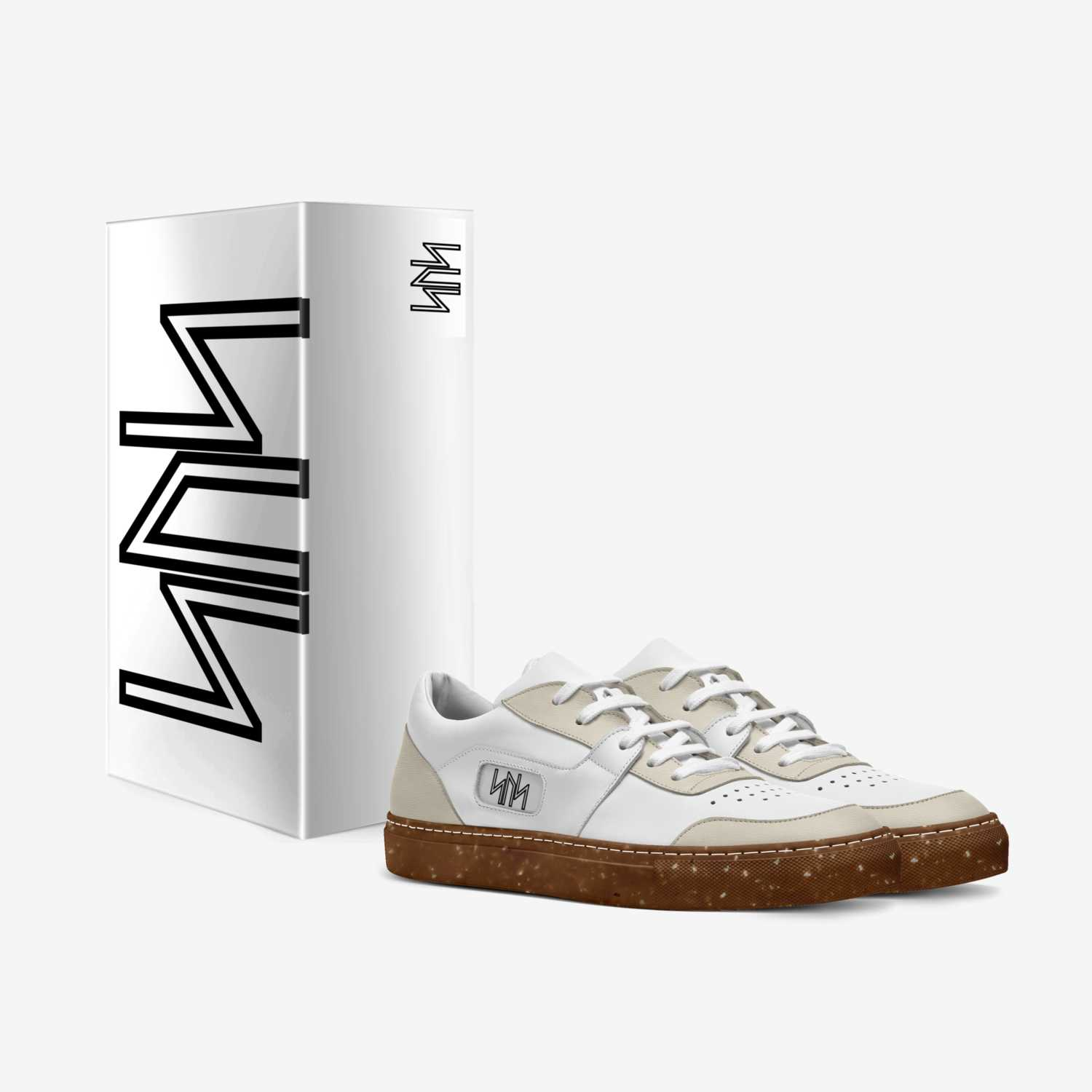 WHITE TENNIS SHOES custom made in Italy shoes by Jon Mcbean | Box view