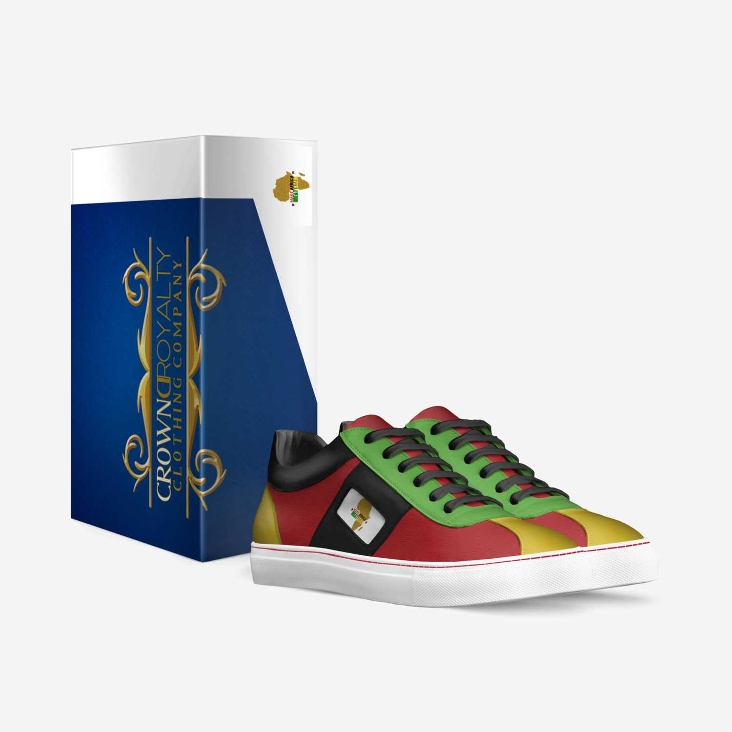 Sport AFrika custom made in Italy shoes by Jessica Lewis | Box view