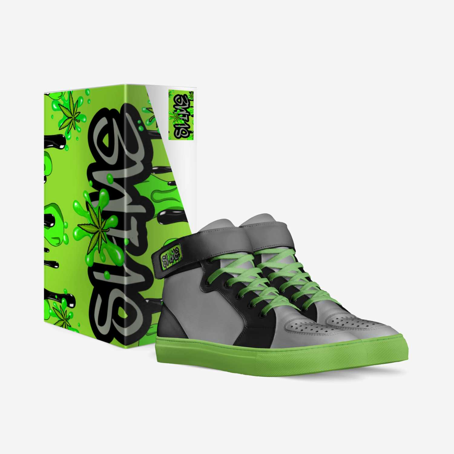 Slime custom made in Italy shoes by Candii Miller | Box view