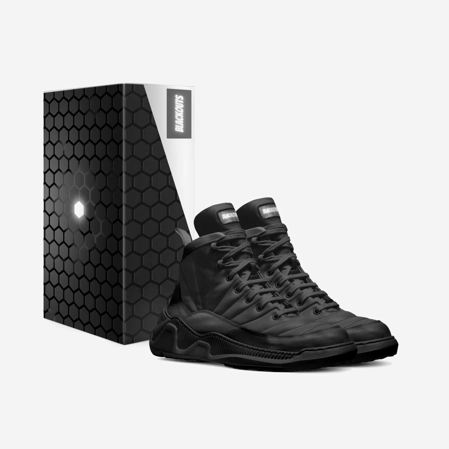 23's (BlackOuts) custom made in Italy shoes by Androgynal Llc | Box view