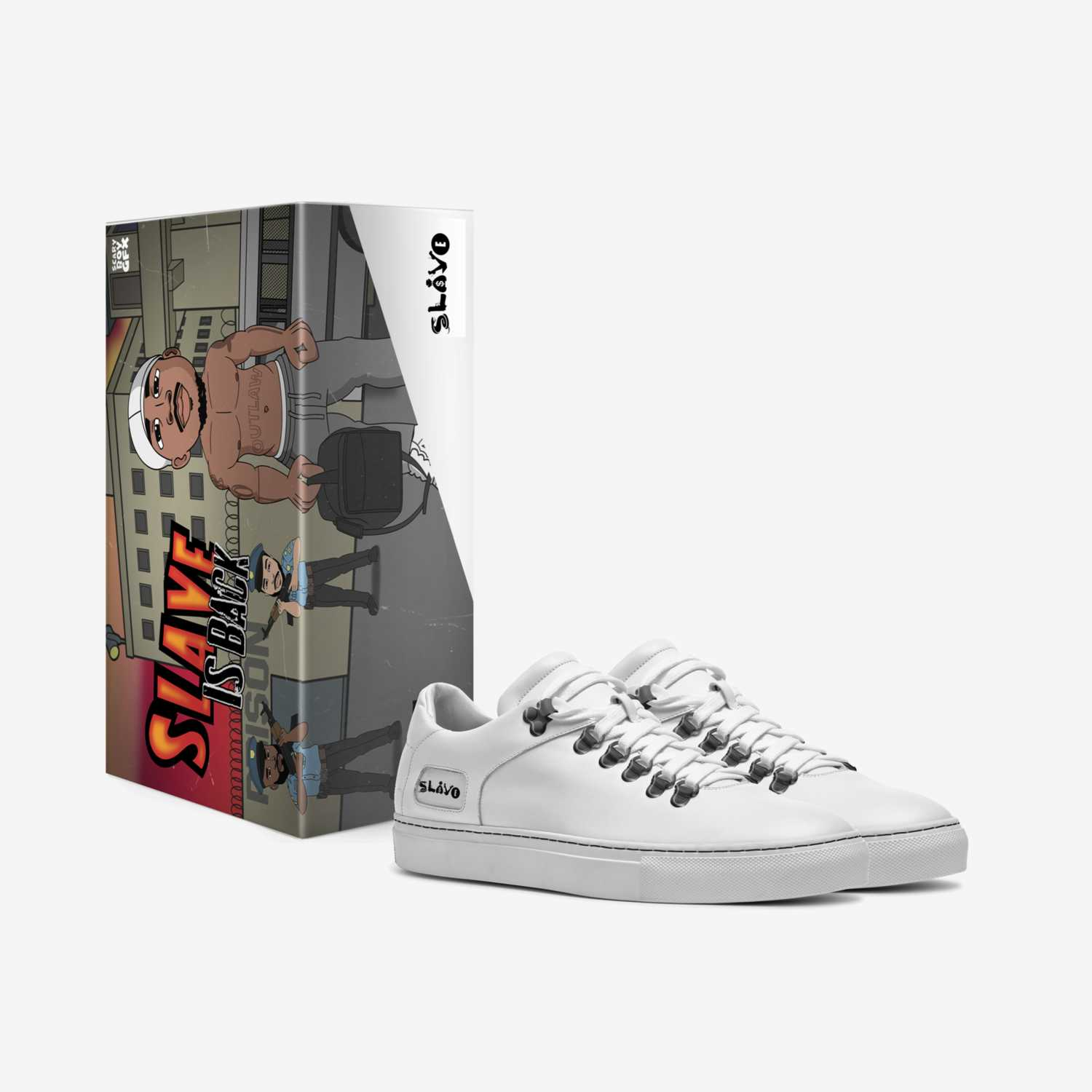 Slave custom made in Italy shoes by Harold English   Box view