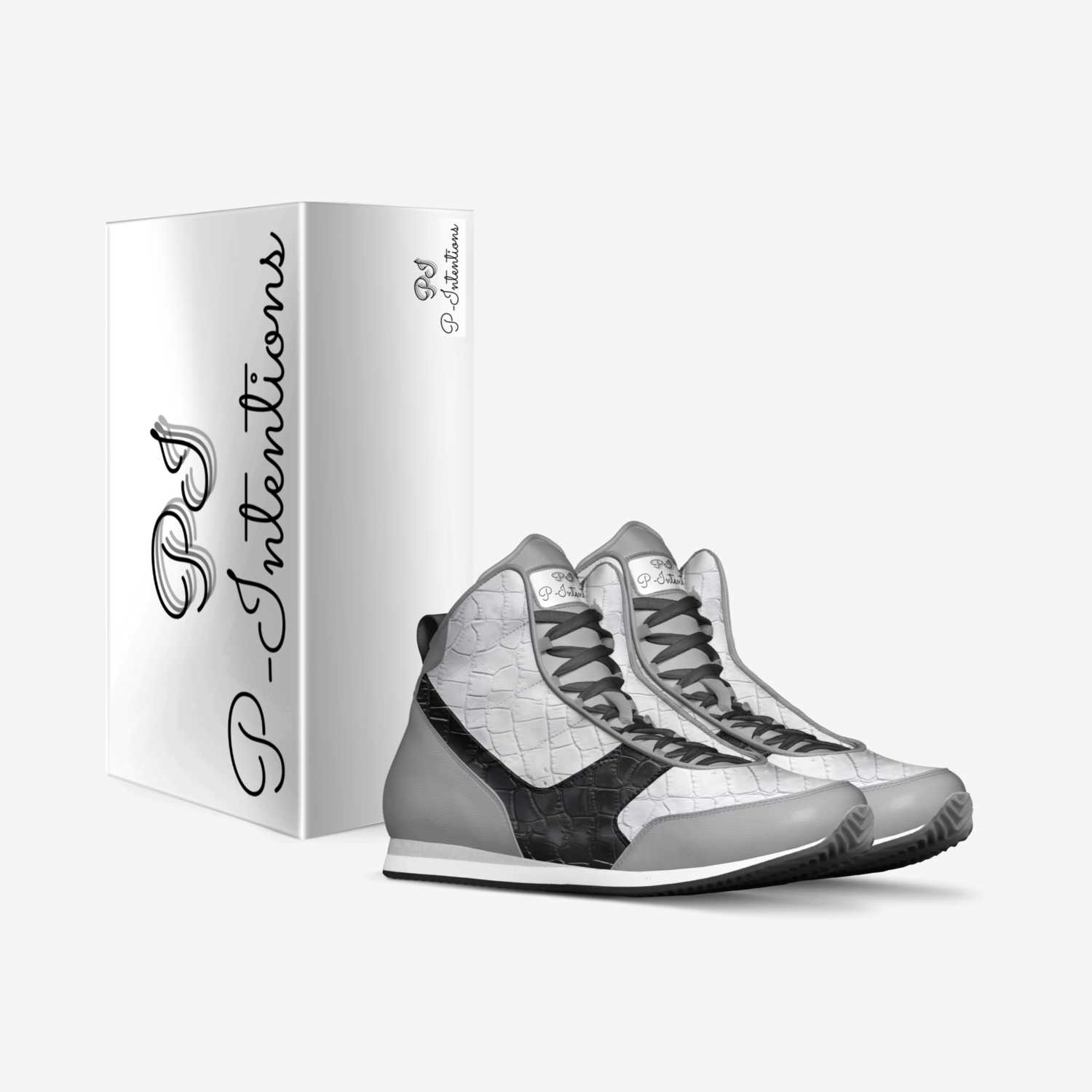 P-intentions custom made in Italy shoes by Hue Mcdowell | Box view