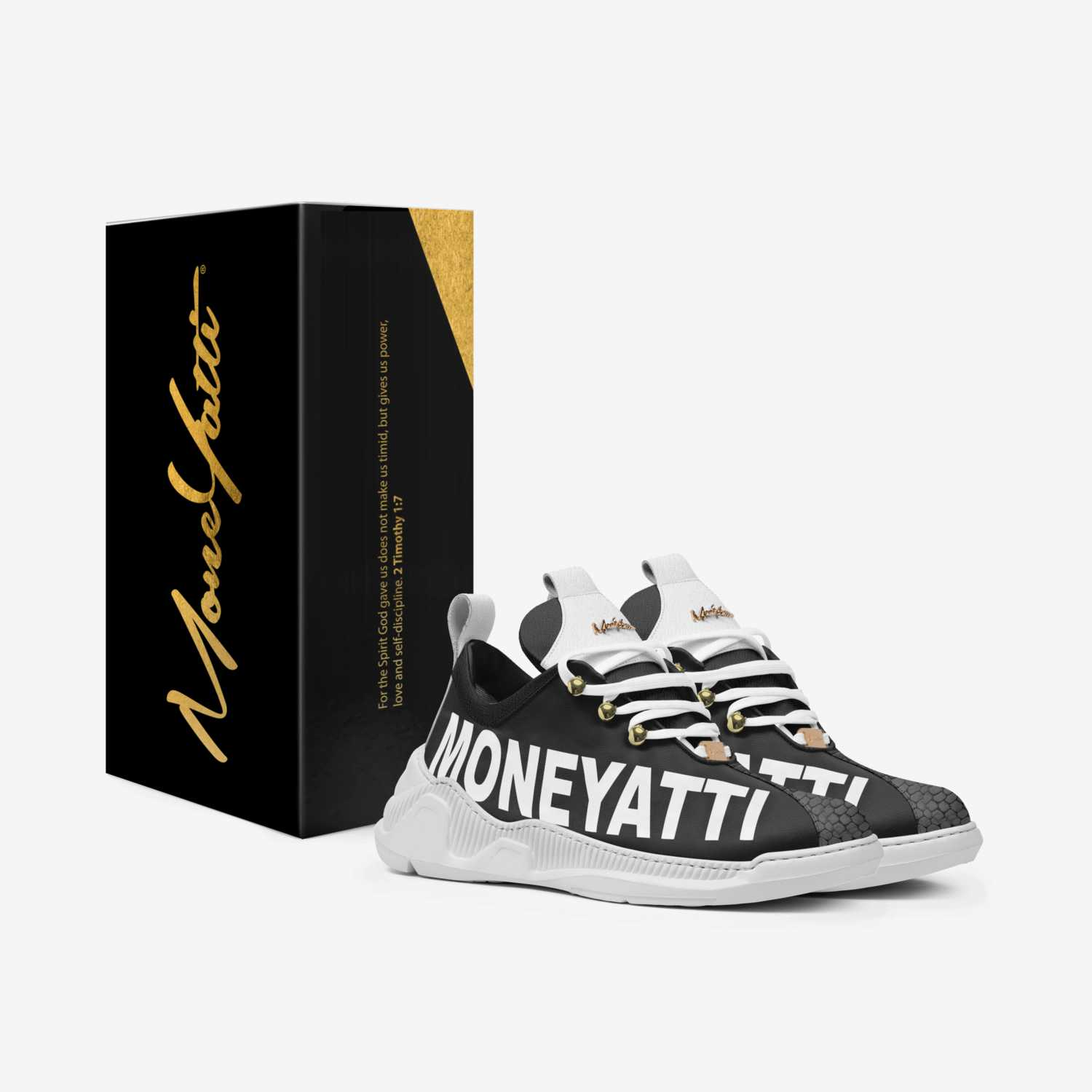 Sig03 custom made in Italy shoes by Moneyatti Brand | Box view