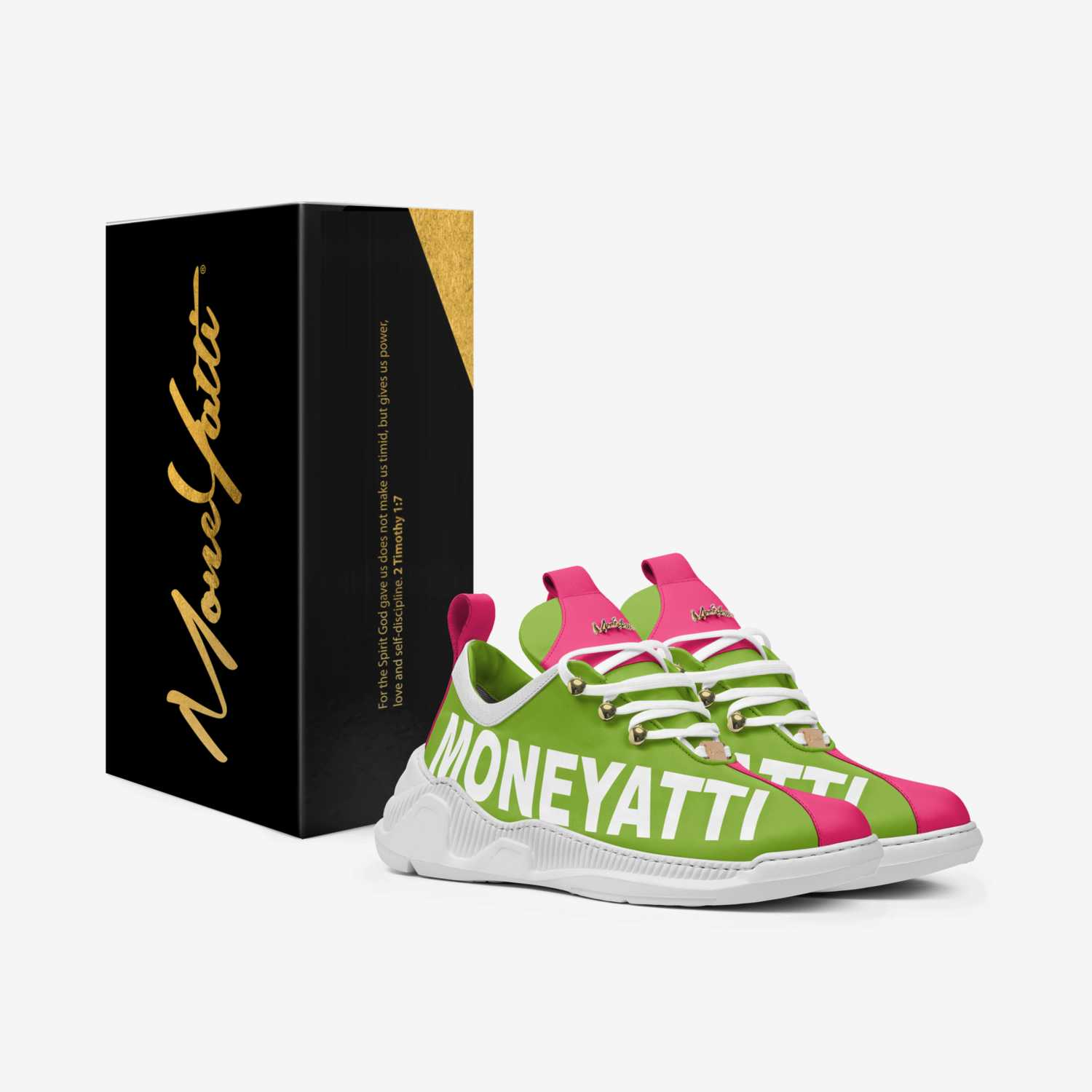 sig07 custom made in Italy shoes by Moneyatti Brand | Box view