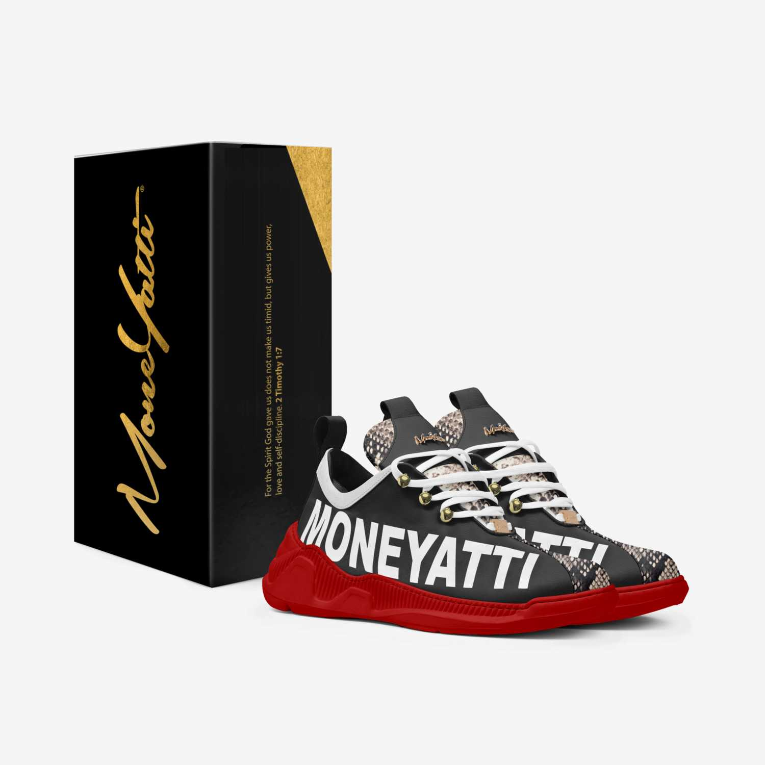 SIG12 custom made in Italy shoes by Moneyatti Brand   Box view