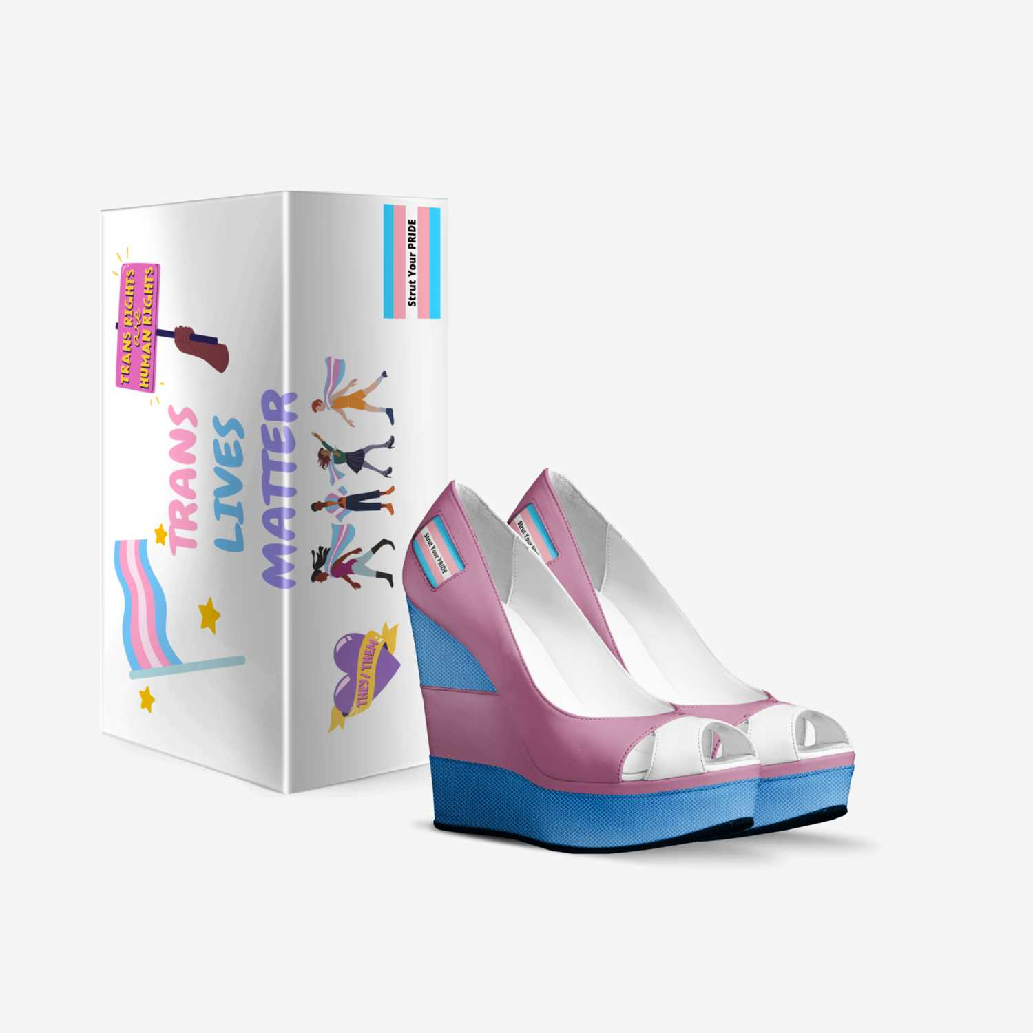 Strut Your Pride custom made in Italy shoes by Jevon Martin | Box view