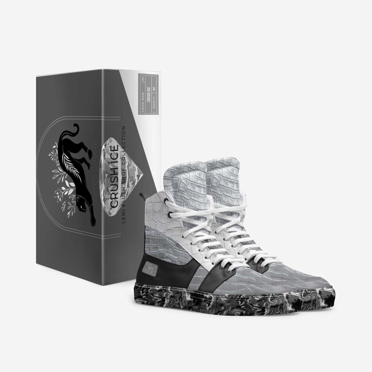 Crush Ice custom made in Italy shoes by Delena Rusan   Box view