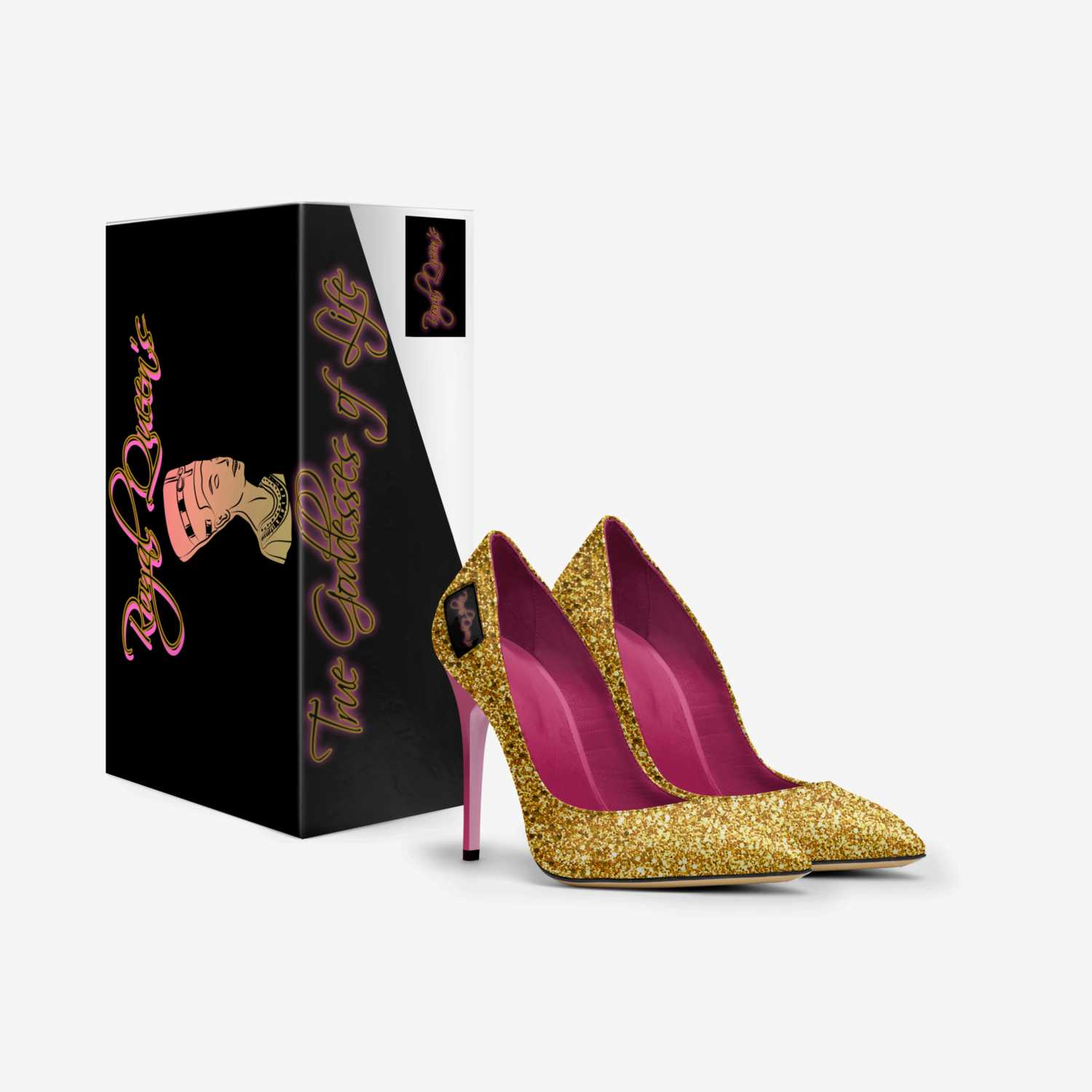 Royal Goddesses  custom made in Italy shoes by Jeremy Tucker   Box view