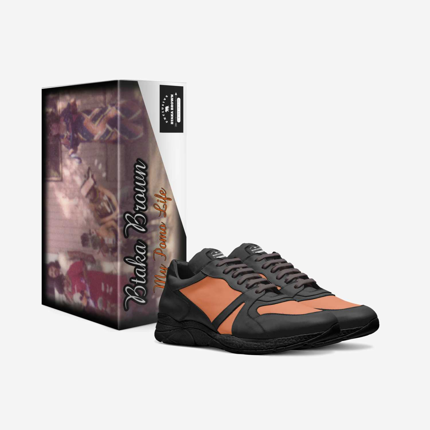 My Pomo Life custom made in Italy shoes by Btaka Brown   Box view
