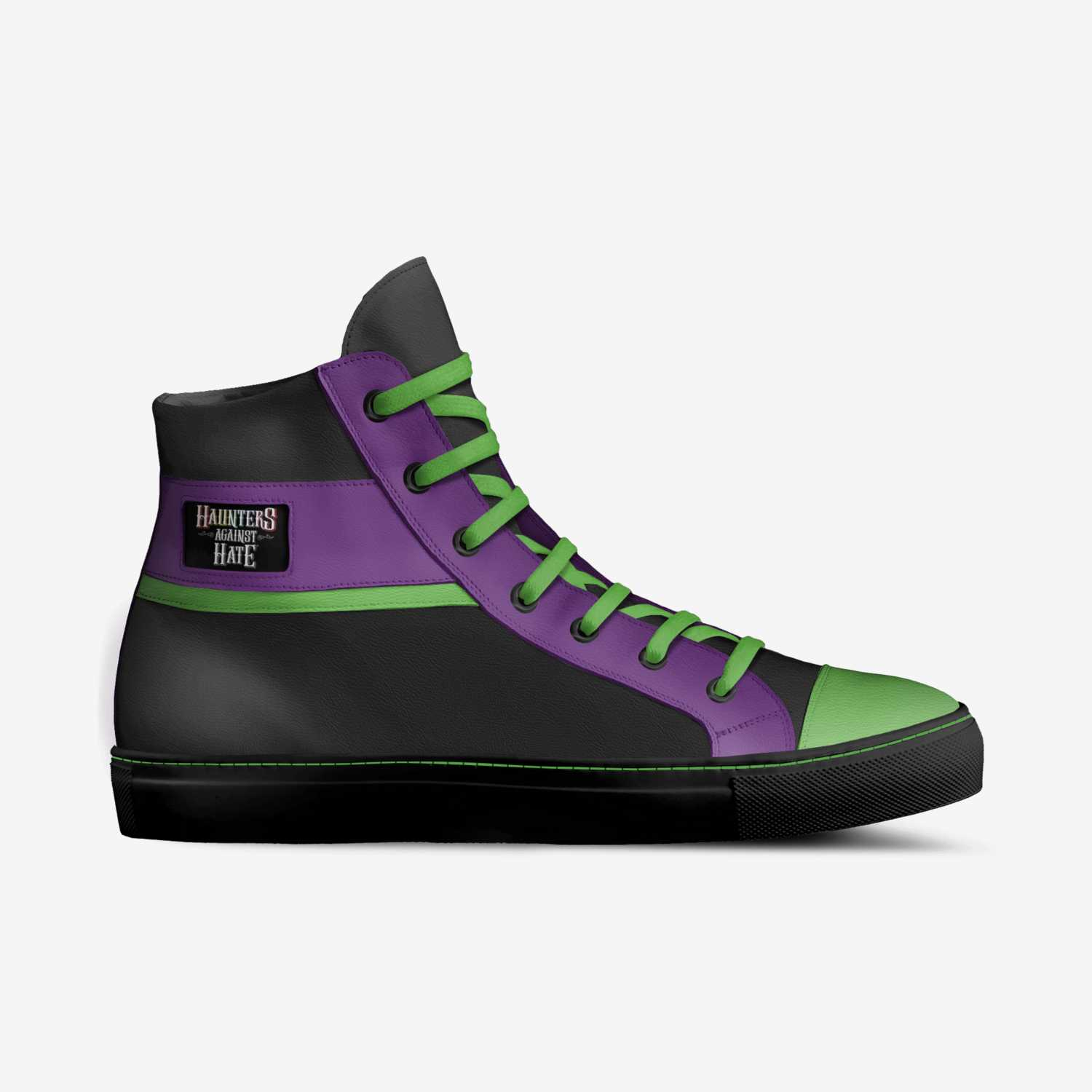 HauntersAgainstH8 custom made in Italy shoes by Paul Lanner   Side view