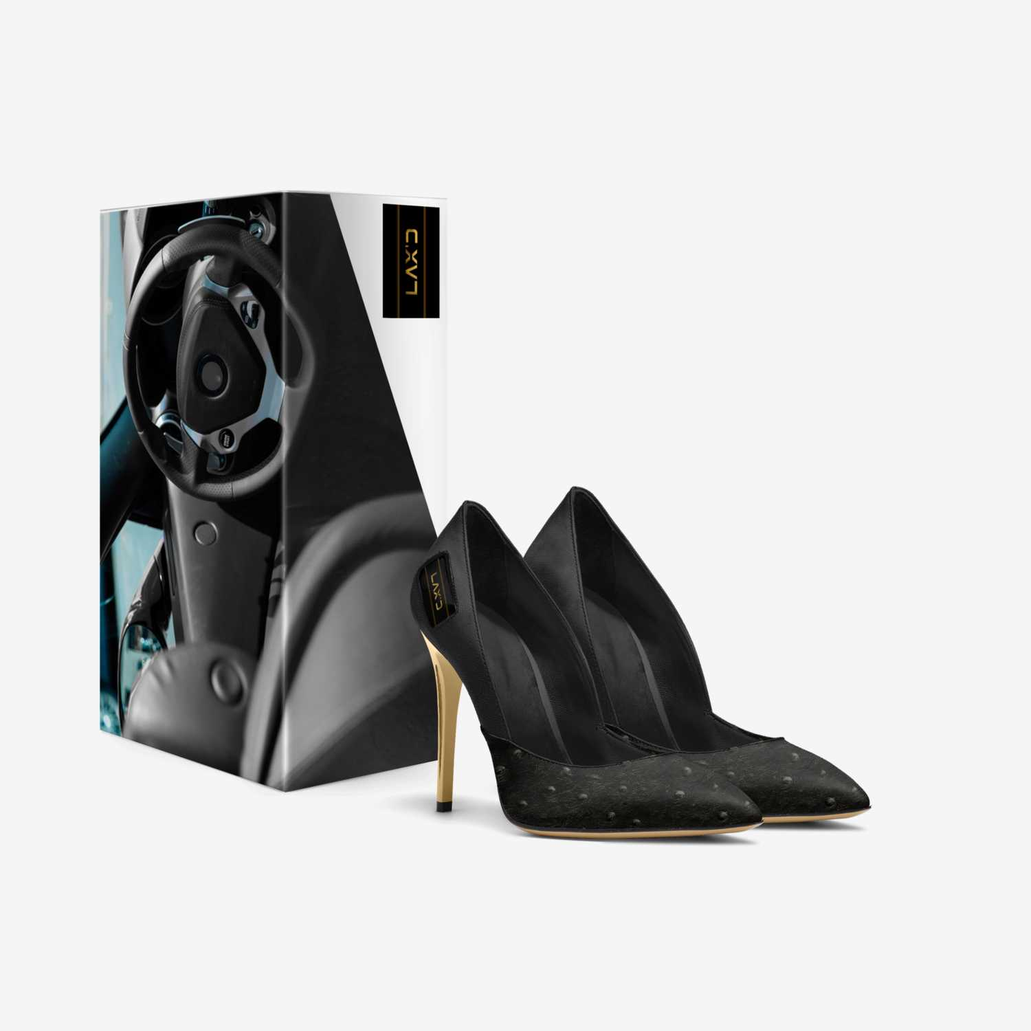 Luxe Heel custom made in Italy shoes by Rachel Cash | Box view