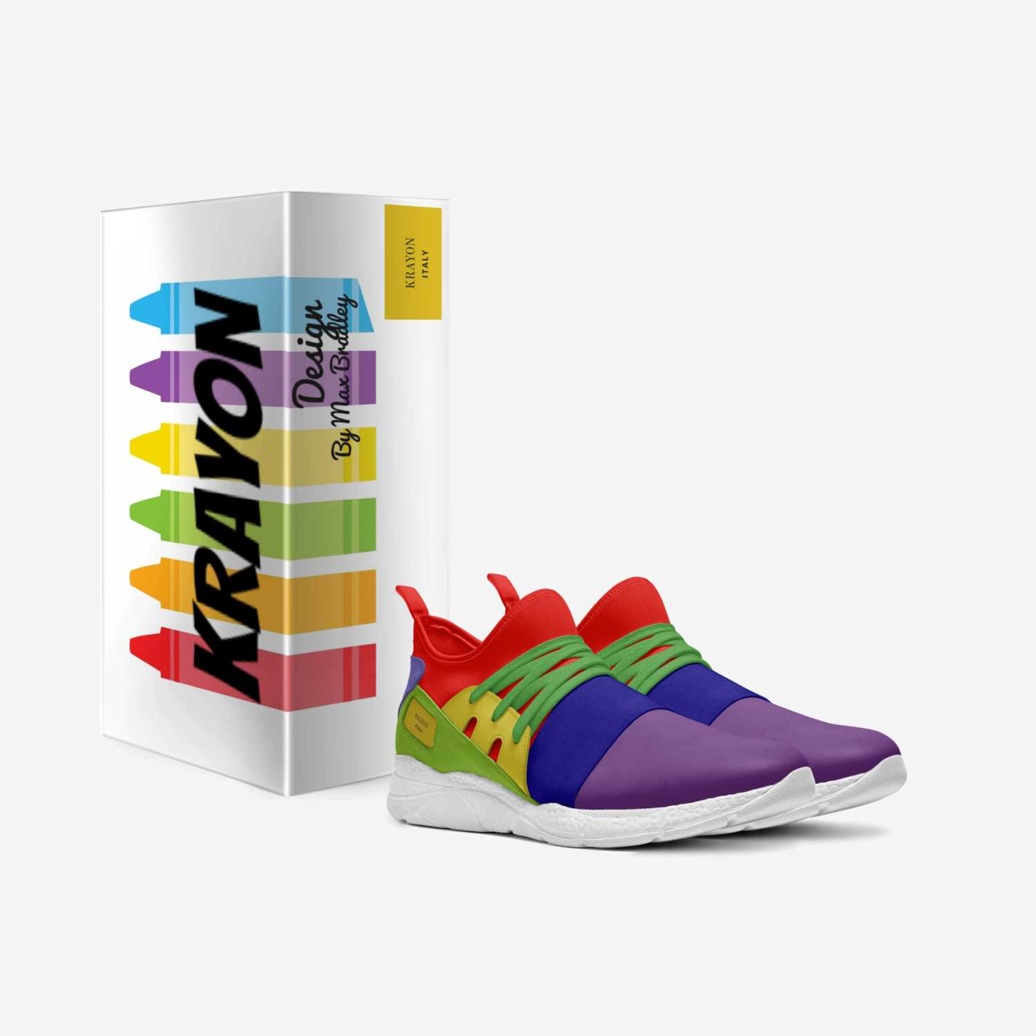 KRAYON custom made in Italy shoes by Max Bradley | Box view