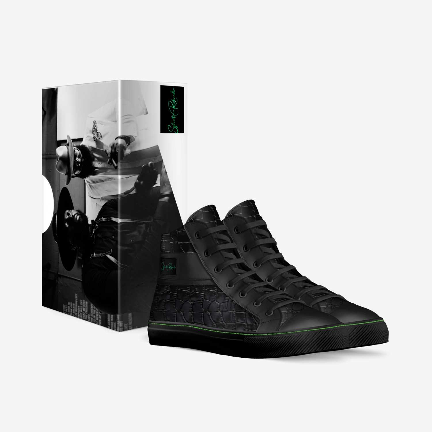 Sylvester Richards custom made in Italy shoes by Byron Johnson   Box view