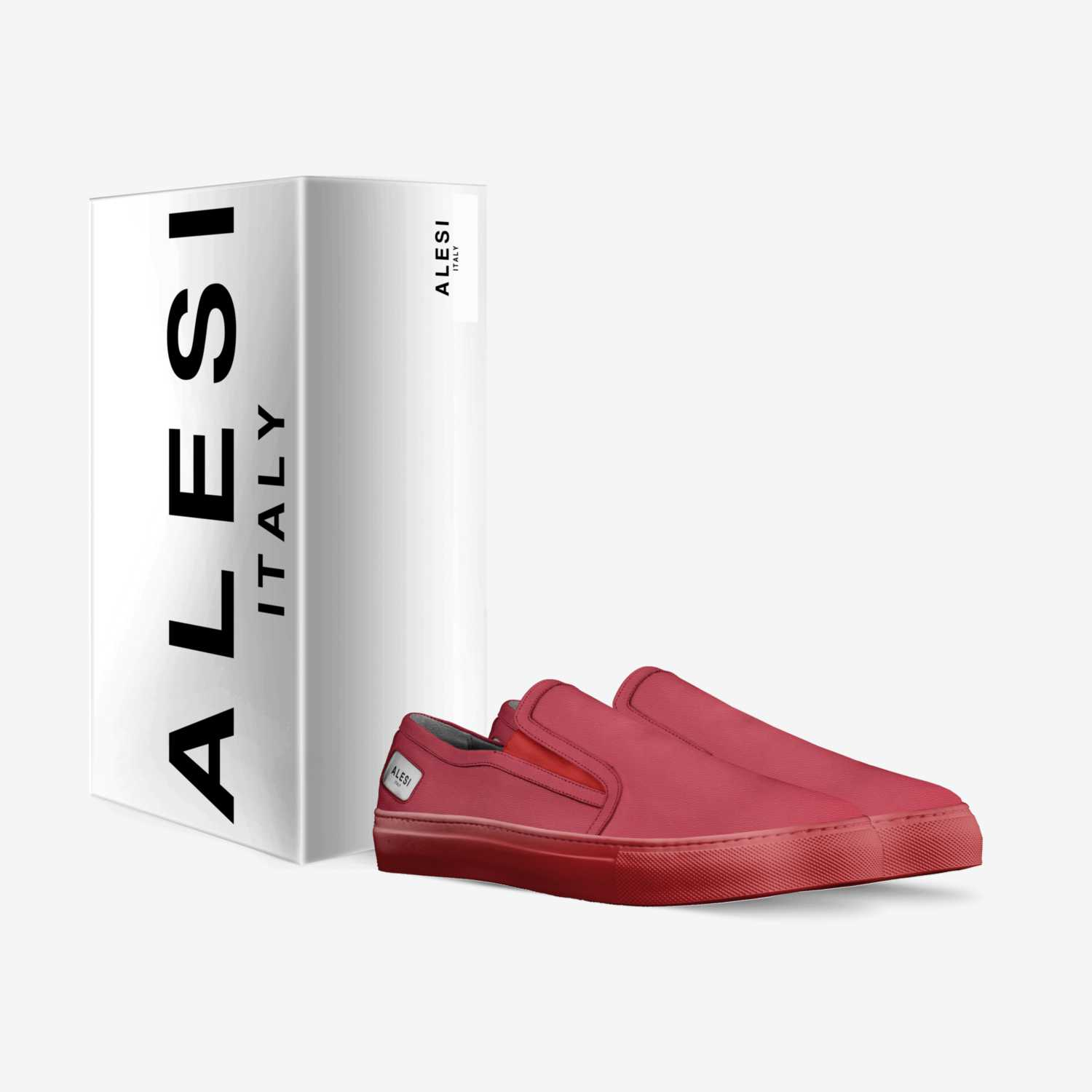 Alesi Slide custom made in Italy shoes by Lonanthony Parker | Box view