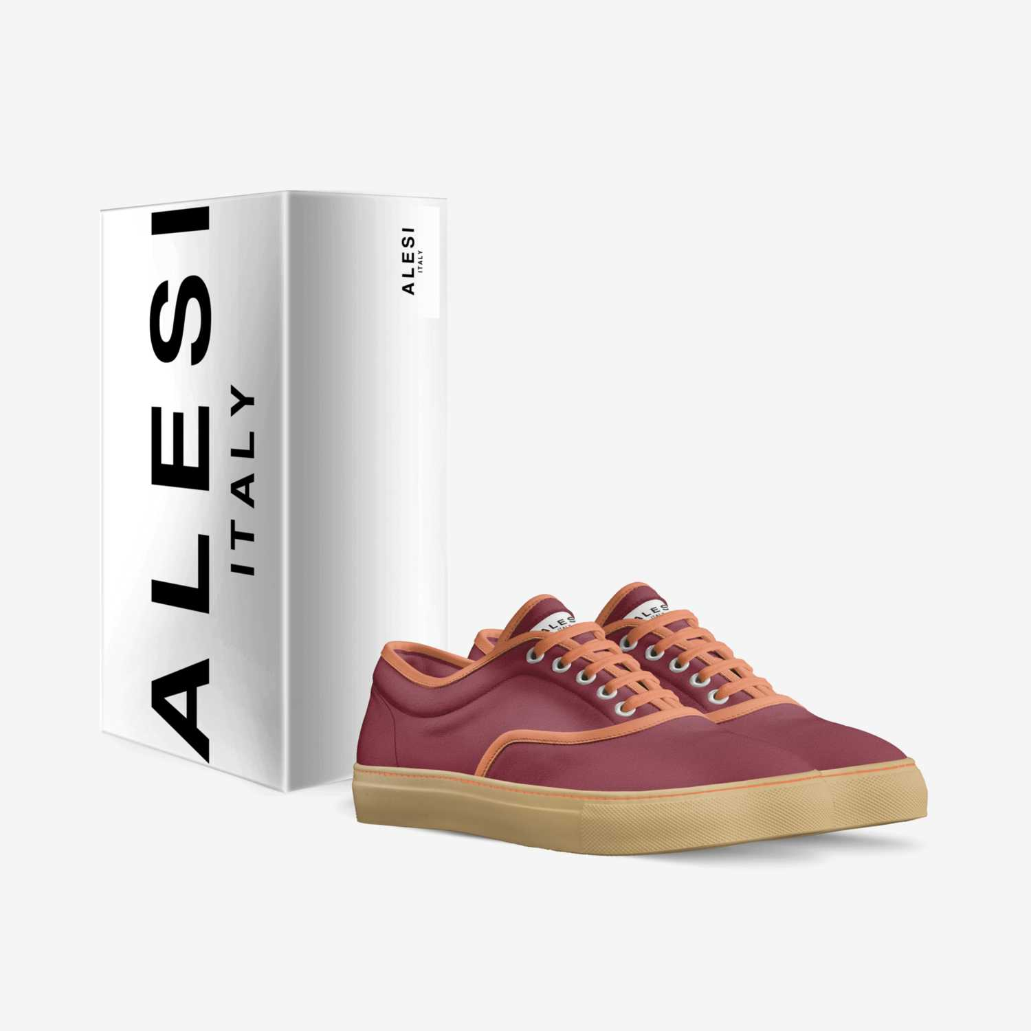 Alesi Skater custom made in Italy shoes by Lonanthony Parker   Box view