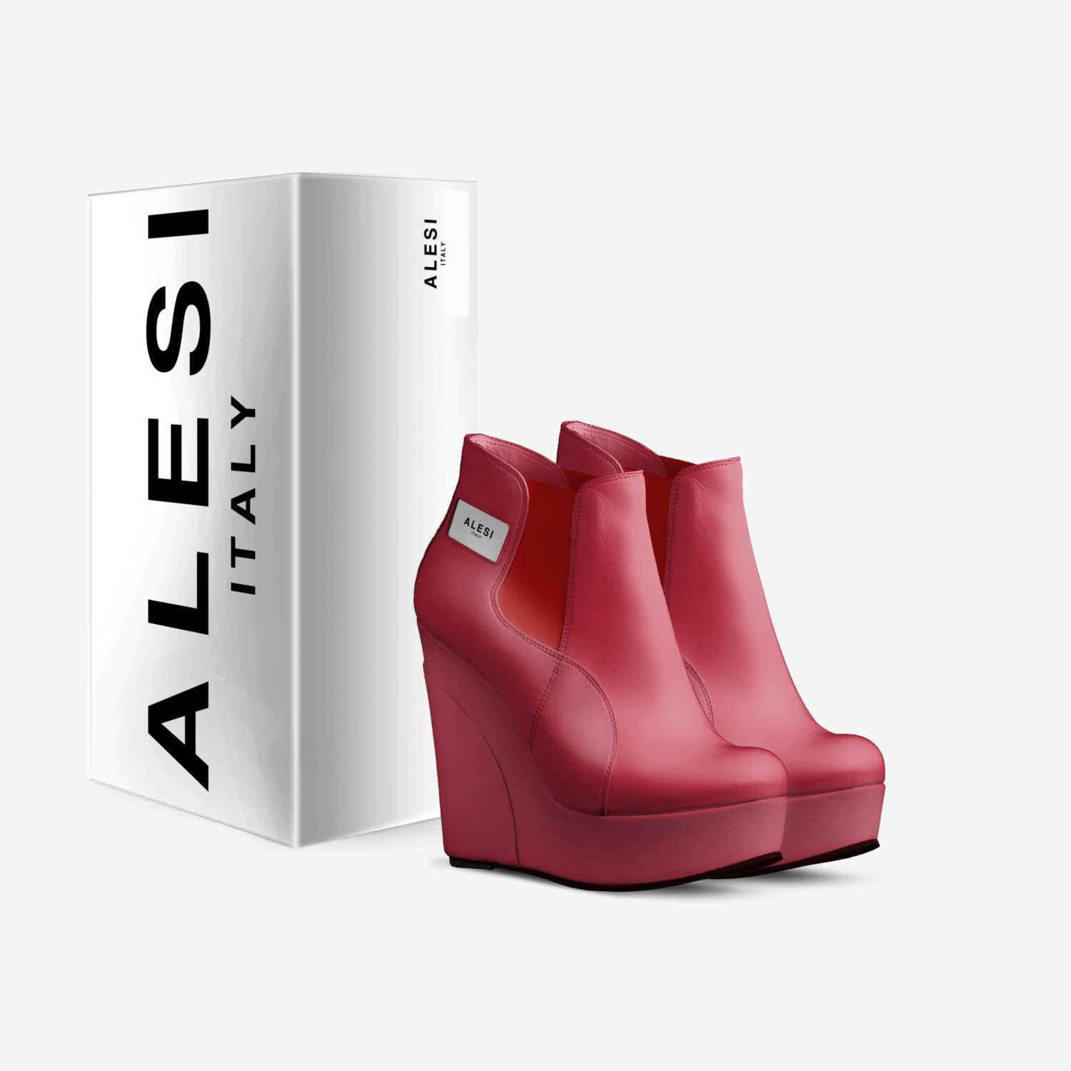 Alesi Wedge custom made in Italy shoes by Lonanthony Parker | Box view