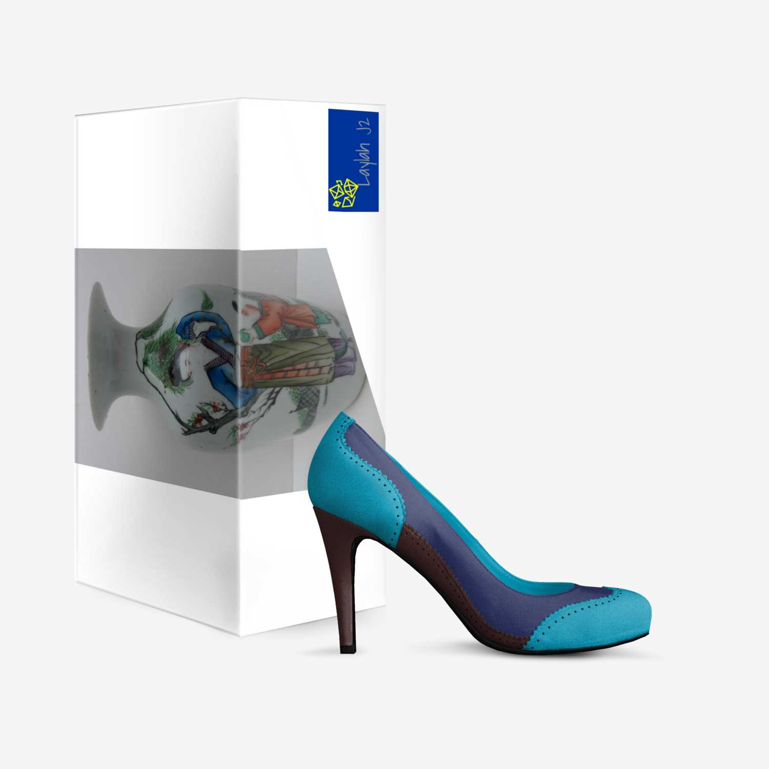 LaylahJ2 custom made in Italy shoes by La Shelle Jenkins   Box view