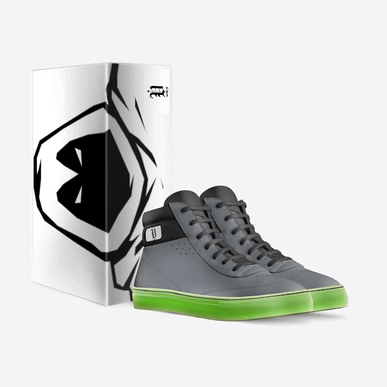 Vics phantom custom made in Italy shoes by Brayden Murphy | Box view