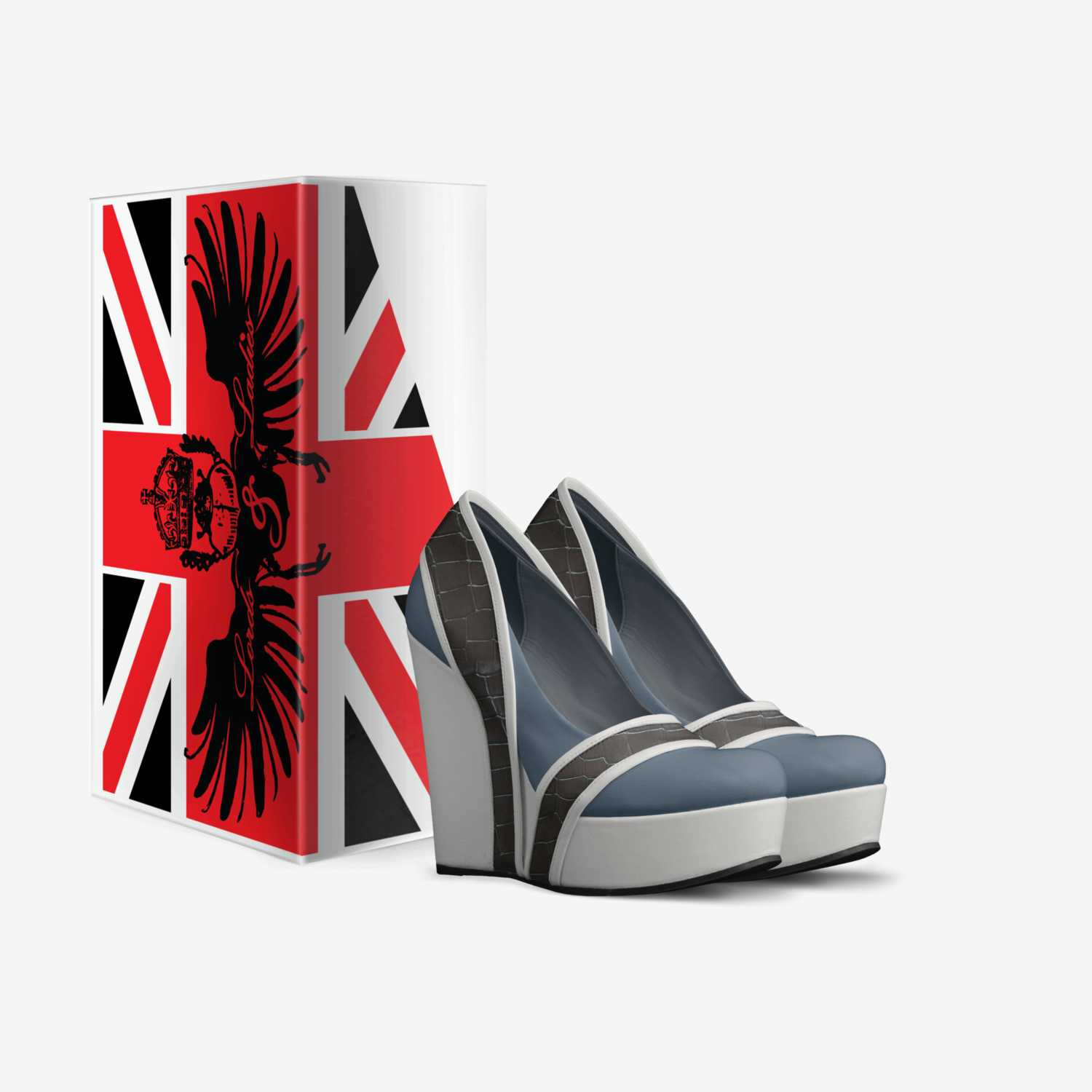 Elle custom made in Italy shoes by David Wall | Box view