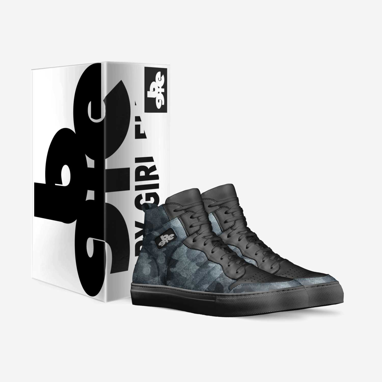 Blu Soldier SJ1 custom made in Italy shoes by Baby-girl Elite | Box view