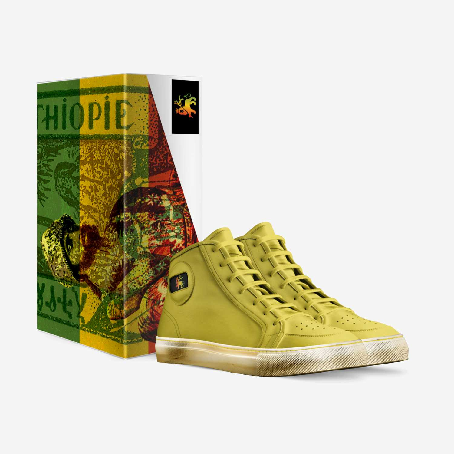 Rasta Gold custom made in Italy shoes by Rasta Gear Shop | Box view