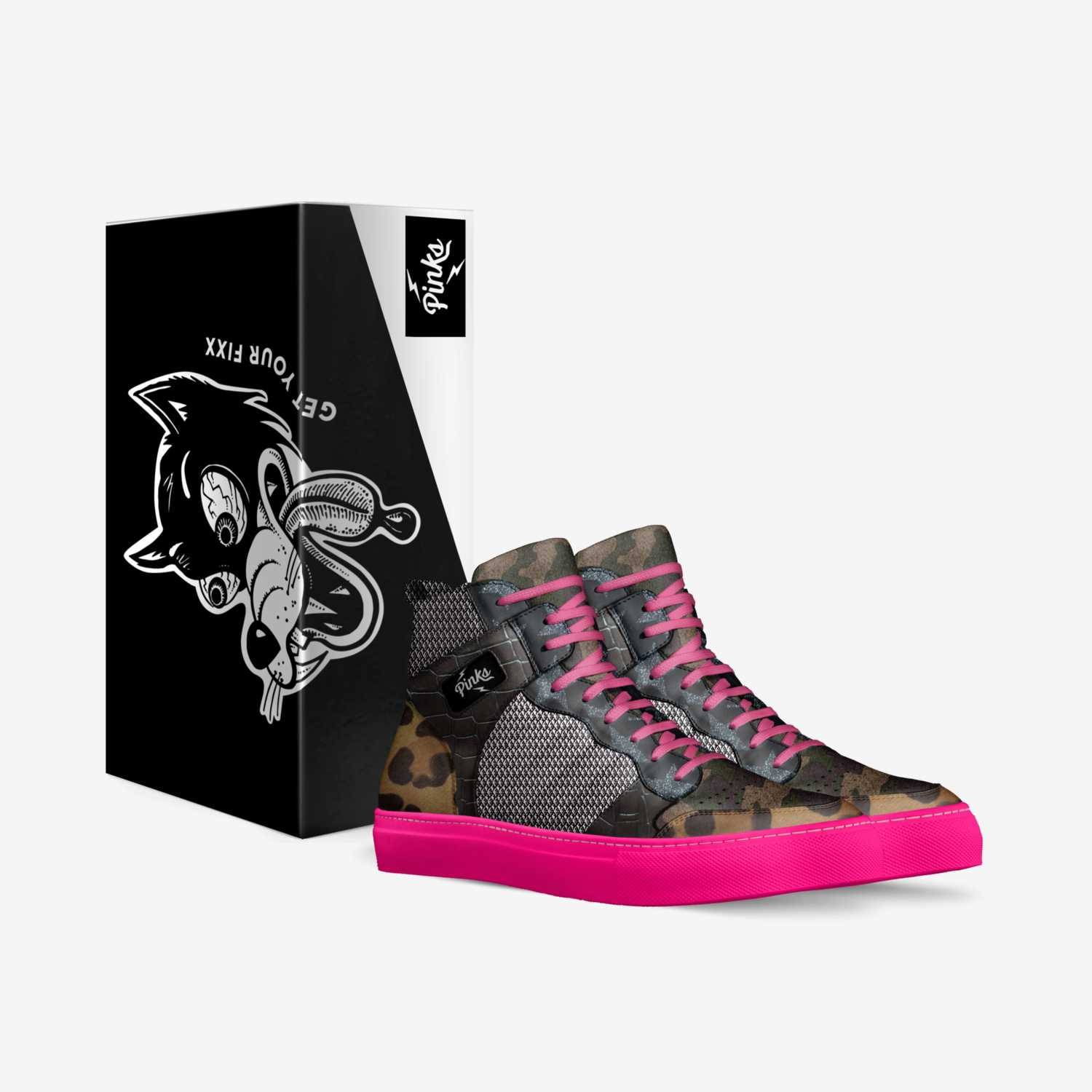PINKS custom made in Italy shoes by Pimptronot | Box view
