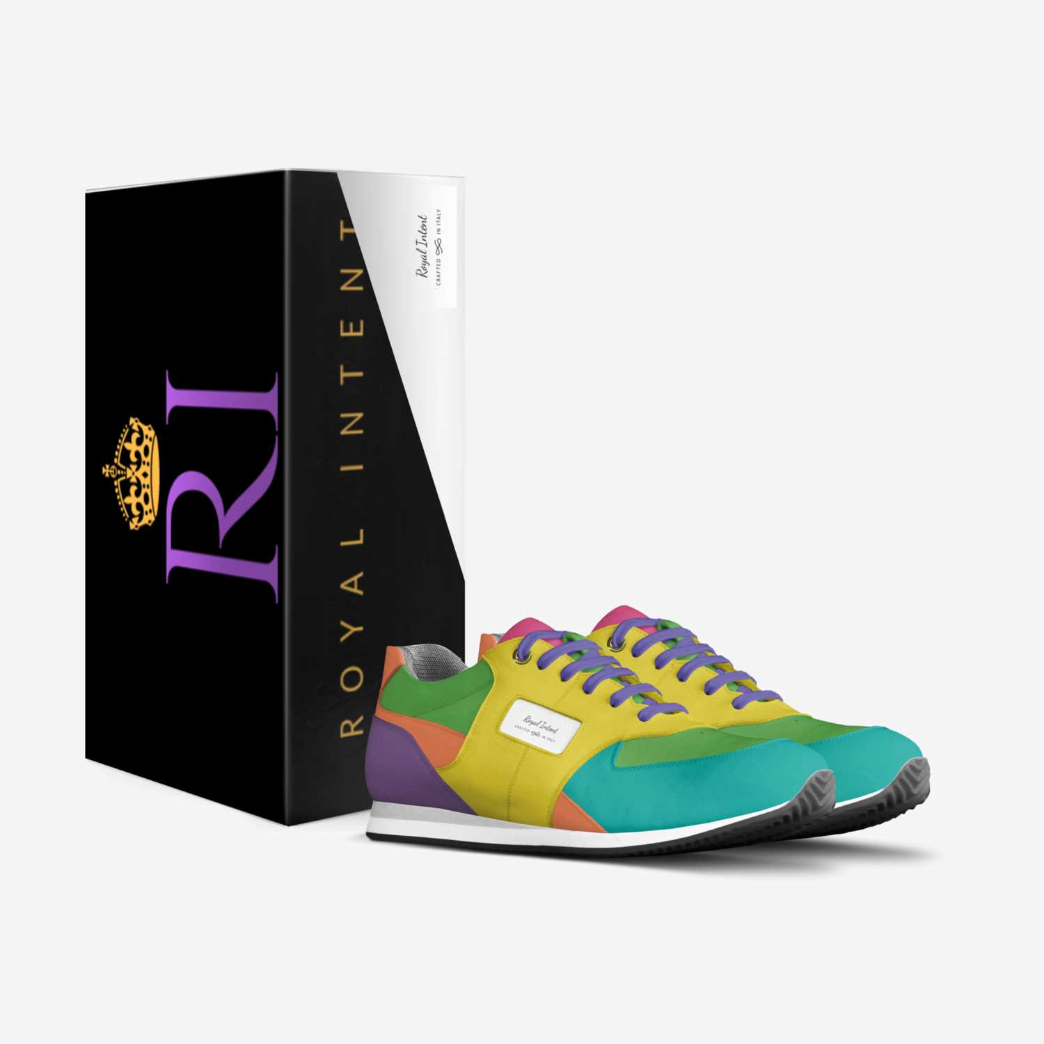 Royal Intent custom made in Italy shoes by Kiauna Griffin   Box view
