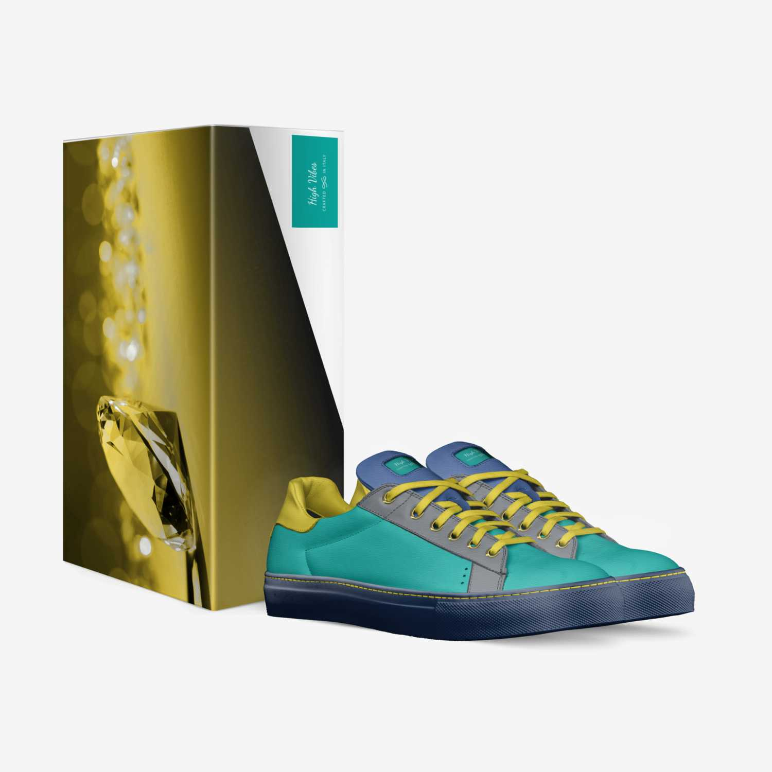 High Vibes  custom made in Italy shoes by Nikita Davis | Box view