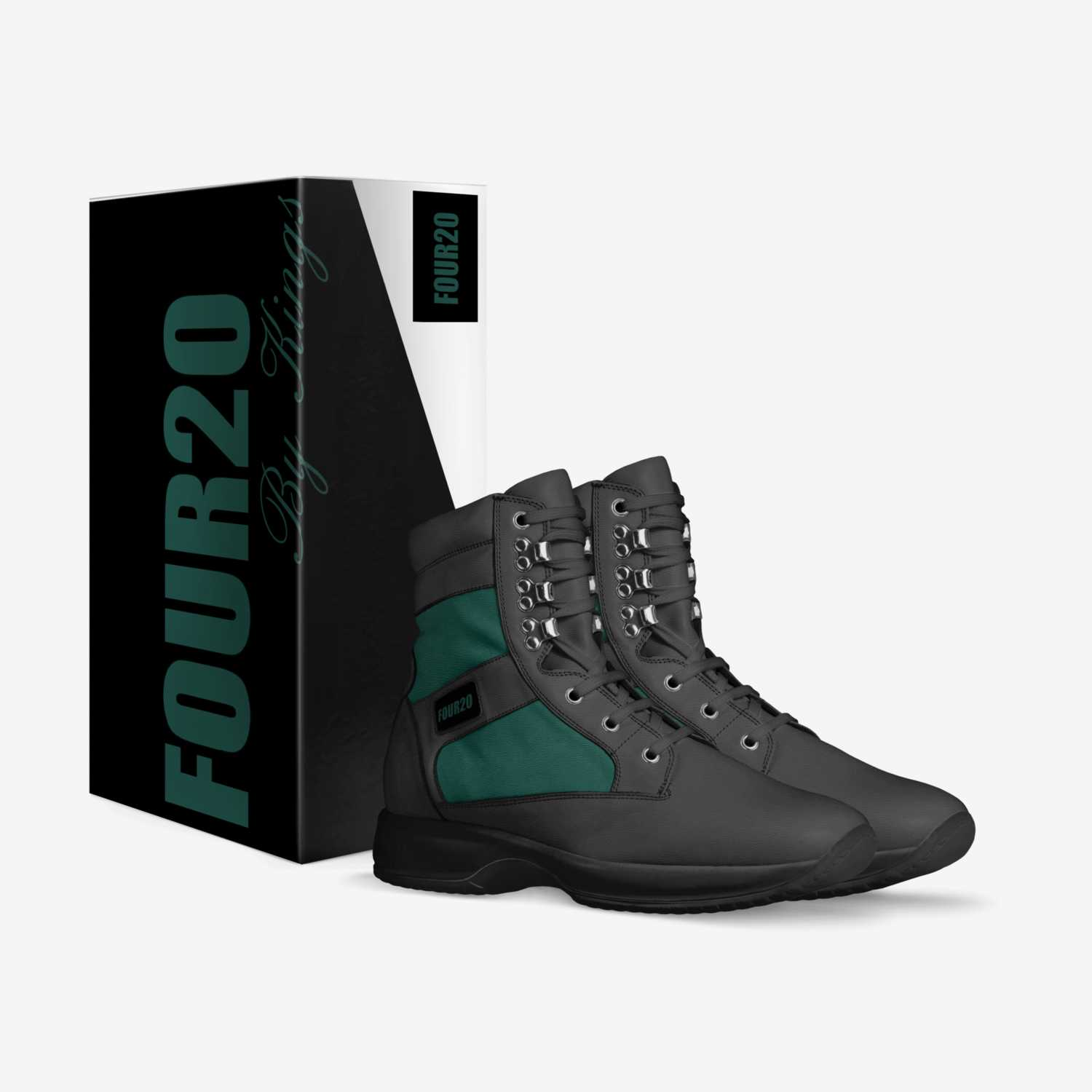 """FOUR20-Dabs custom made in Italy shoes by Jeffrey """"king"""" Robinson Sr   Box view"""