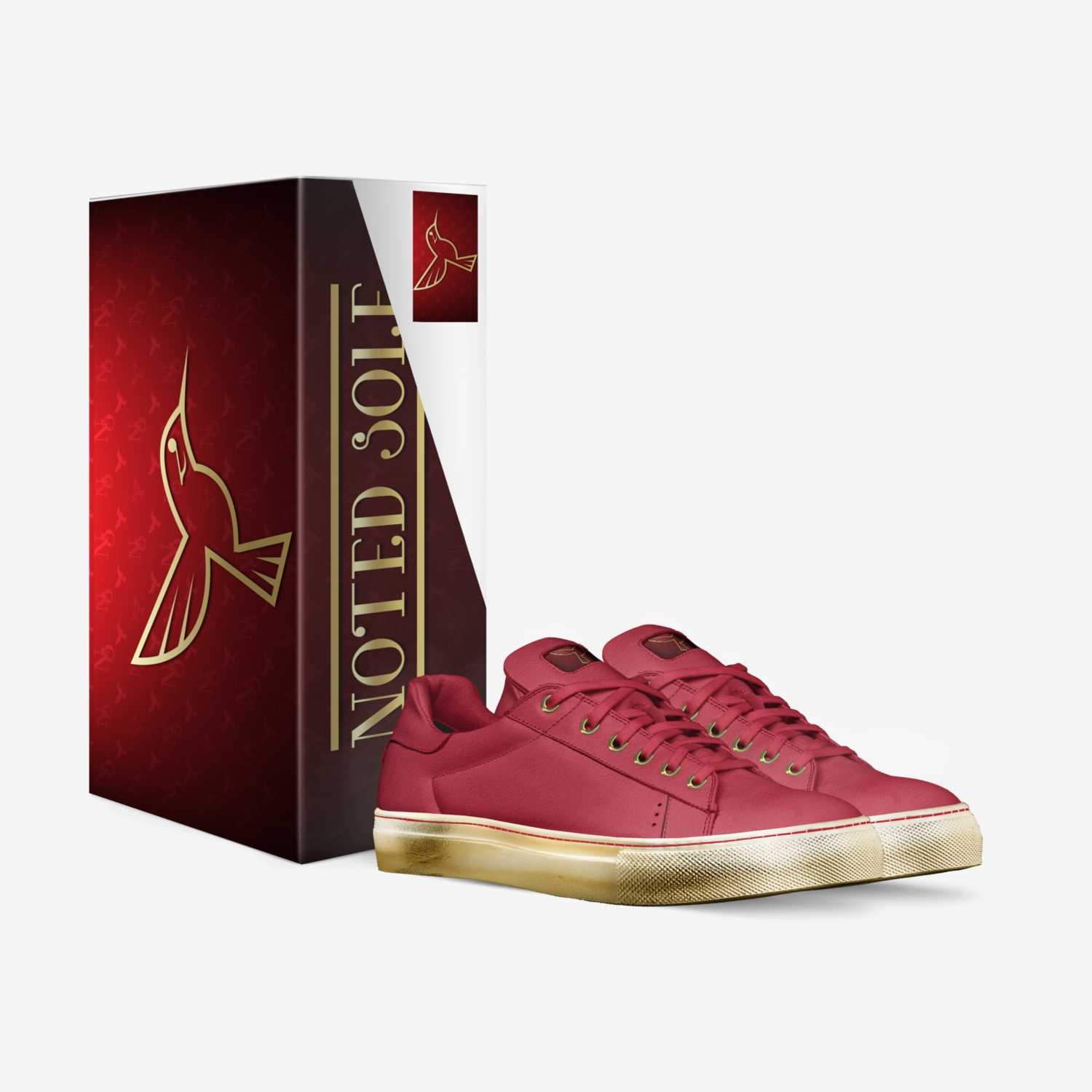 Ruby Sole custom made in Italy shoes by Marcus Brooks | Box view